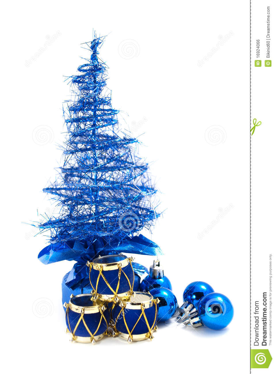 Christmas tree and toys royalty free stock image image for Blue gold and white christmas tree