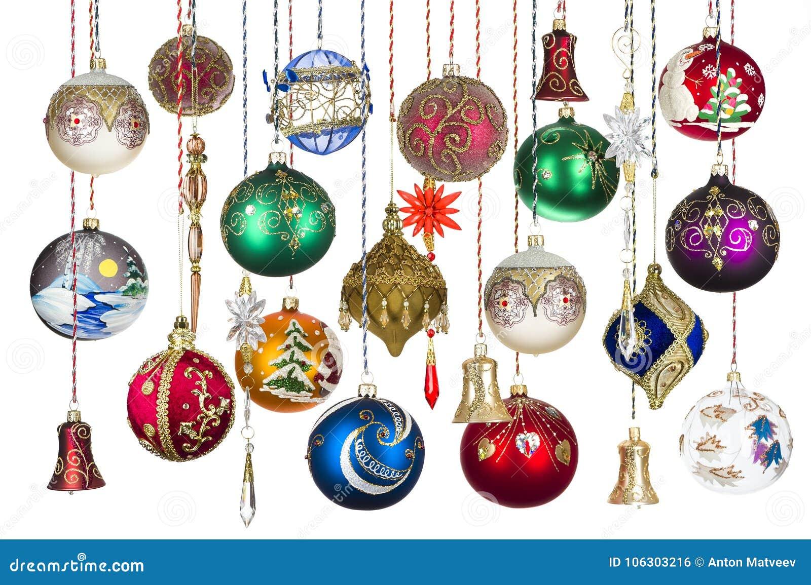 Christmas tree toys stock photo. Image of event, orange - 106303216