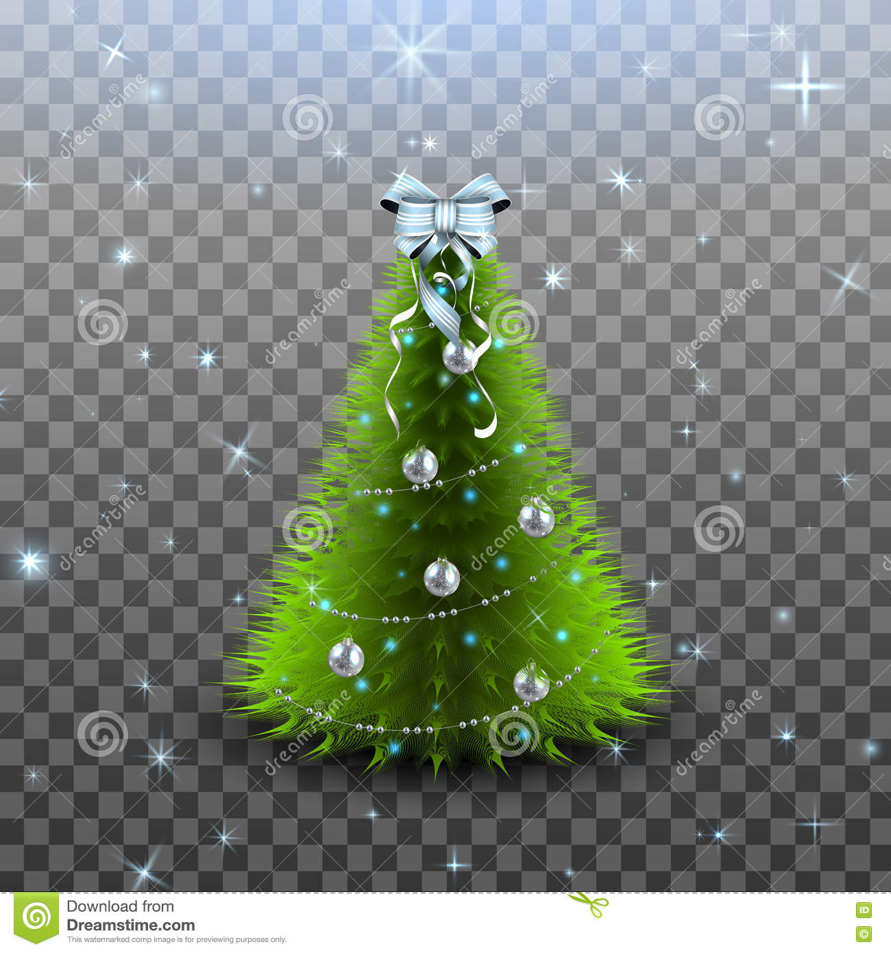 Christmas Tree Transparent Background.Christmas Tree On Transparent Background Vector