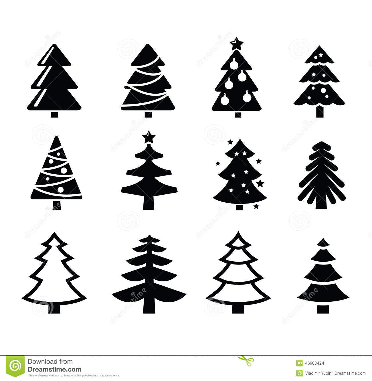 Christmas tree stock vector. Illustration of pictogram ...