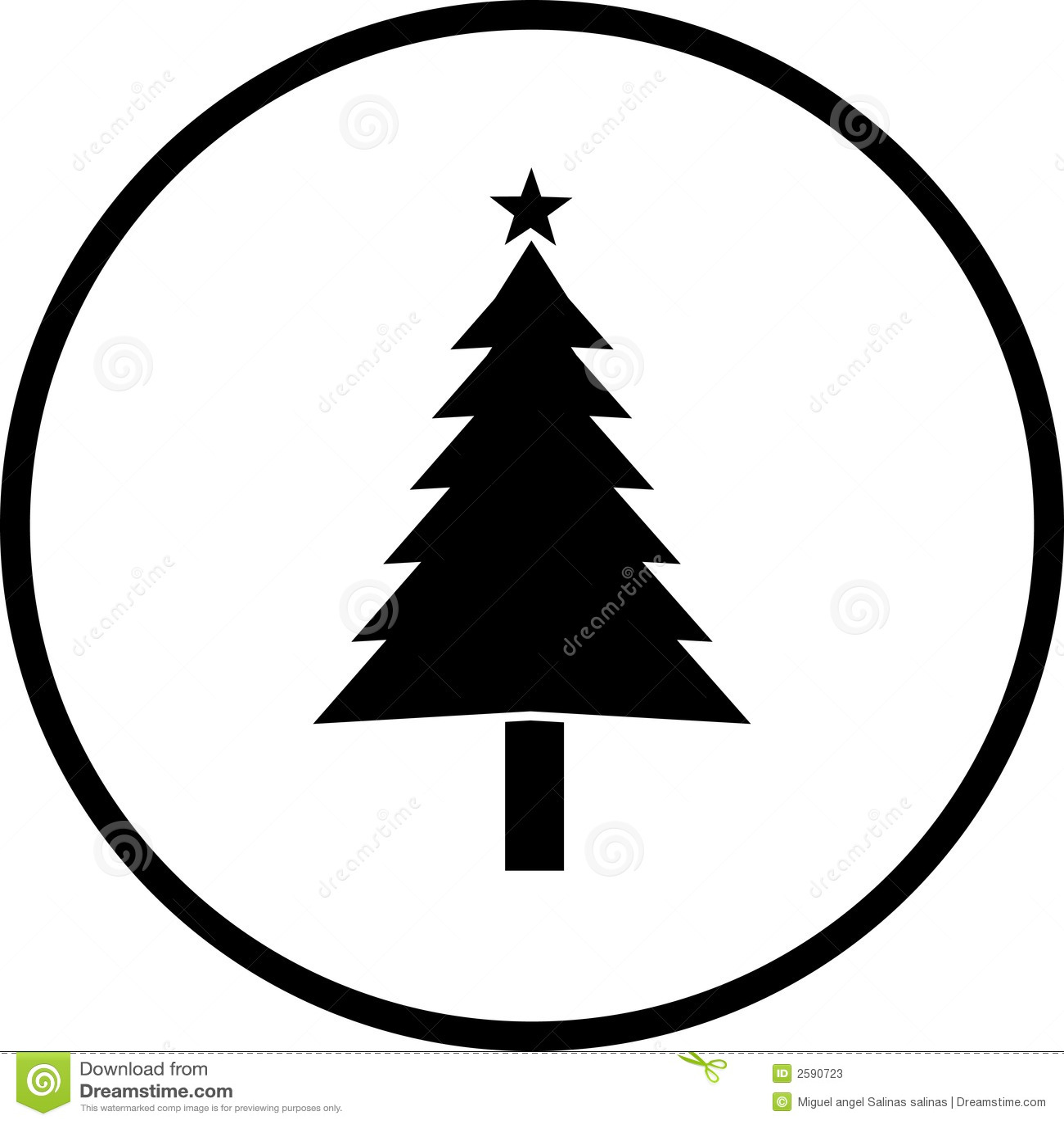 Christmas Tree Vector Symbol Stock Photos - Image: 2590723