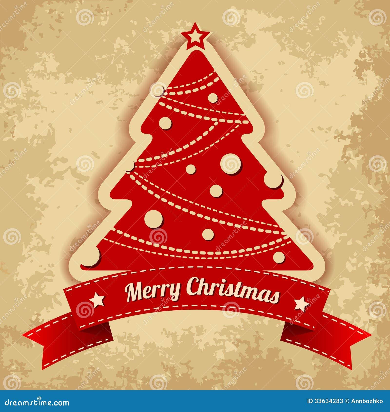 background christmas tree vintage - Retro Christmas Tree