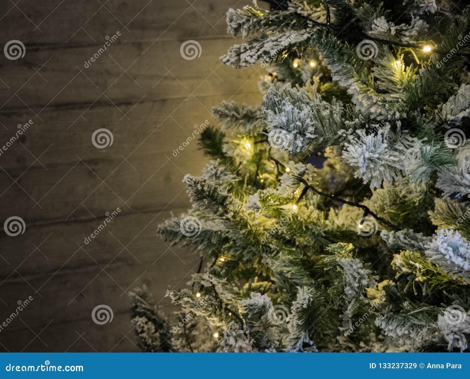 Christmas Tree With Warm Lights Holiday Time Stock Image Image Of