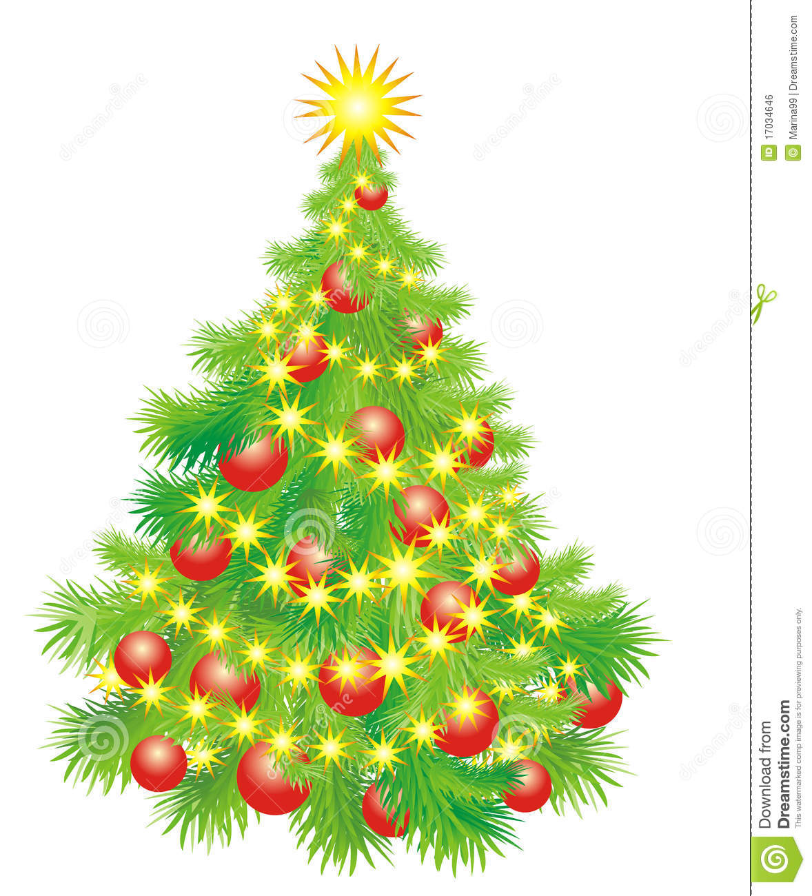 Christmas tree whit balls and garland vector stock