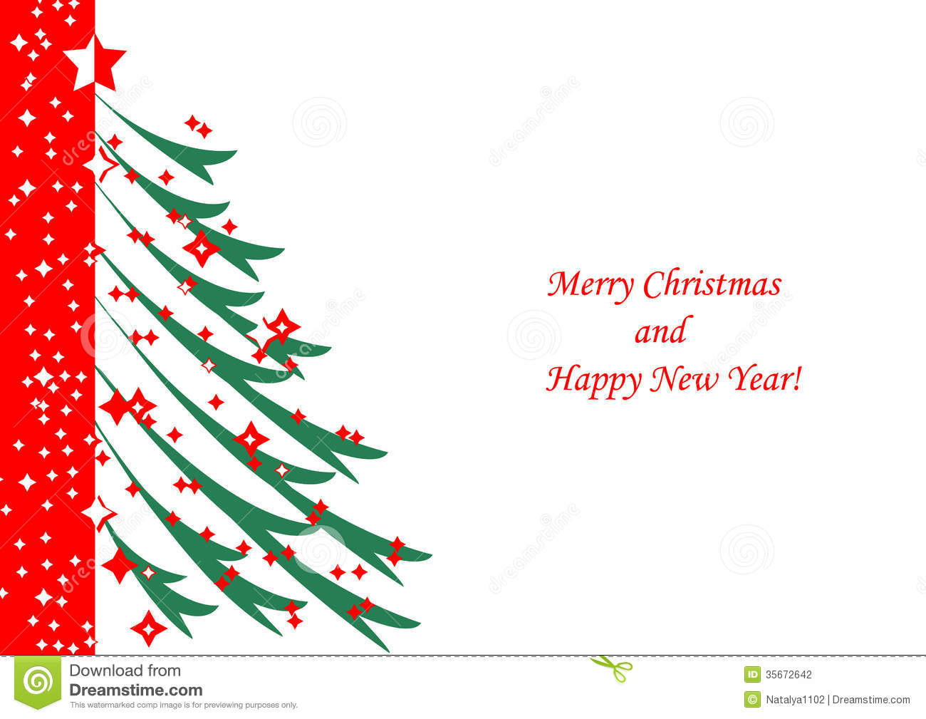 Christmas Tree On White Background Stock Vector ...