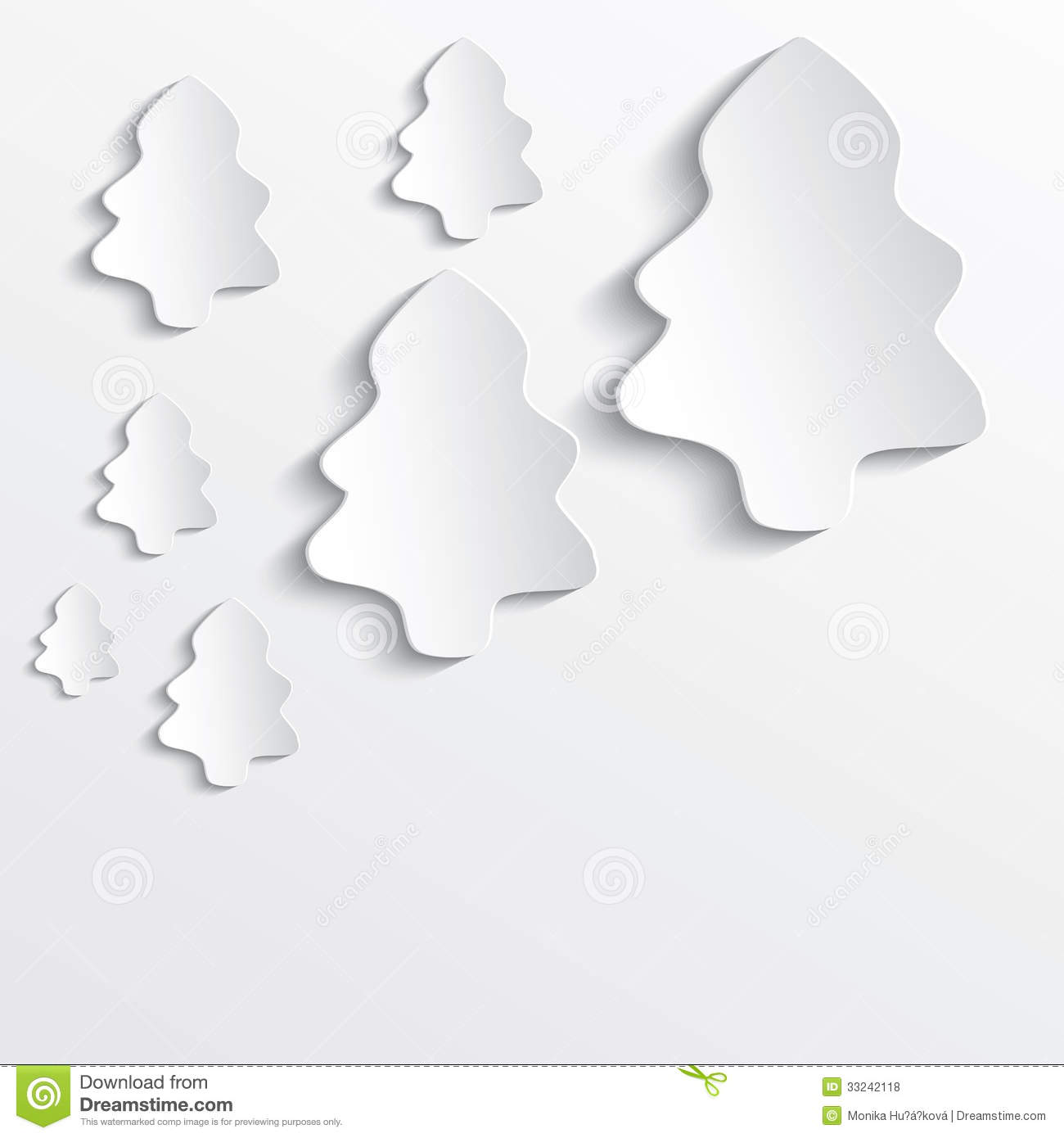 3d Paper Christmas Tree Template.Christmas Tree White Paper 3d Stock Vector Illustration Of Plastic