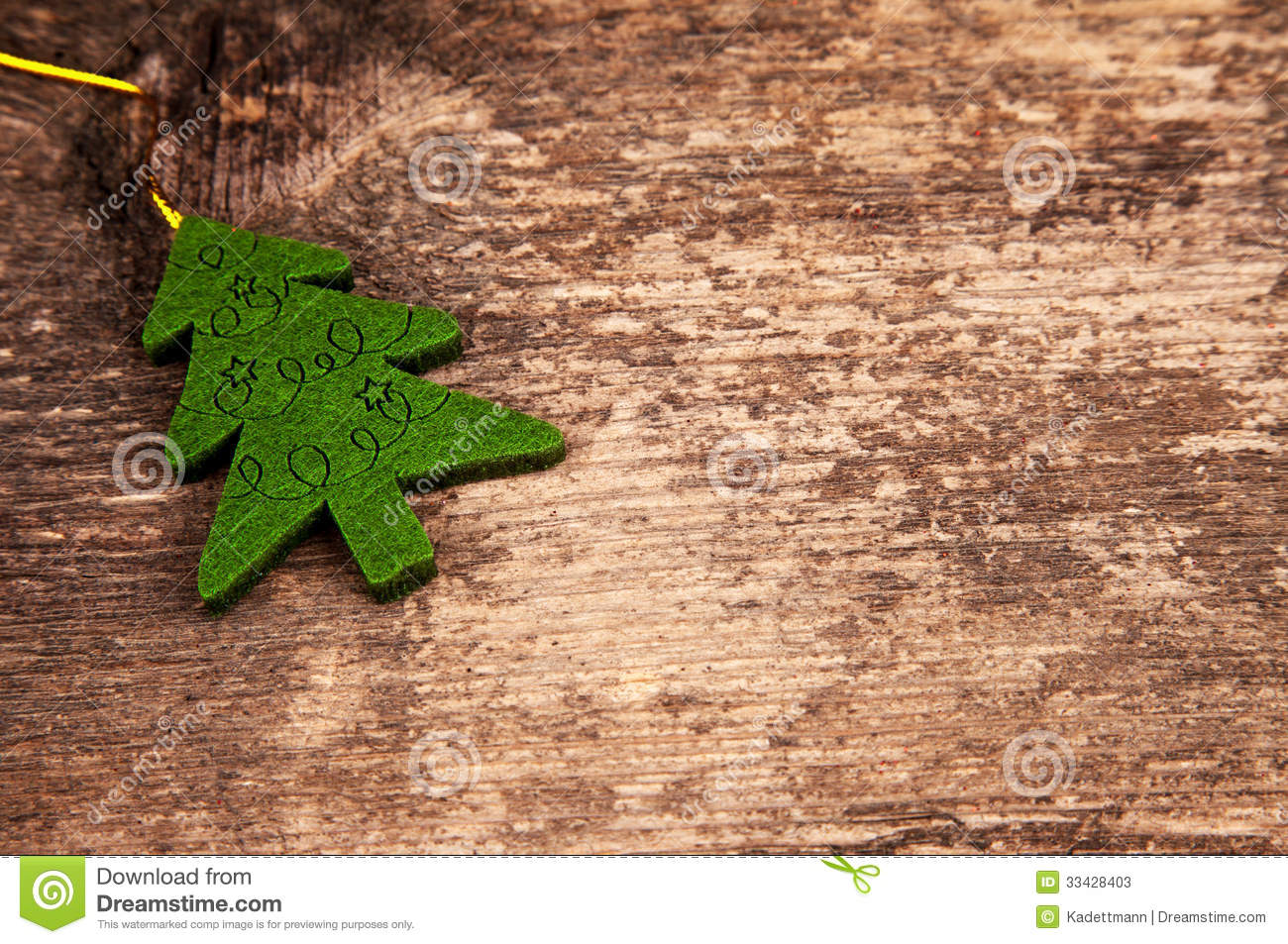 Christmas Tree On Wood In A Vintage Style Stock Photos ...