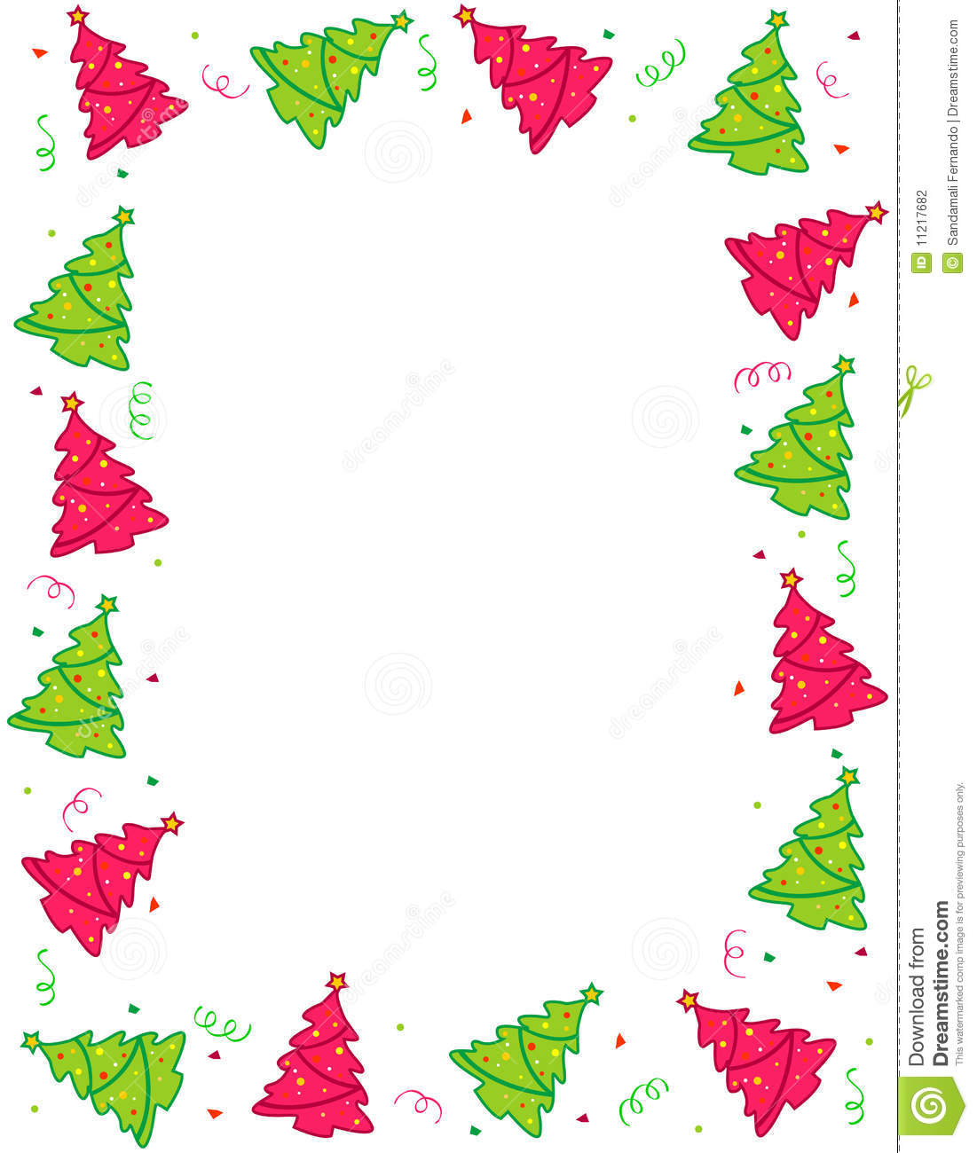 Christmas Trees Border / Frame Stock Photography - Image: 11217682