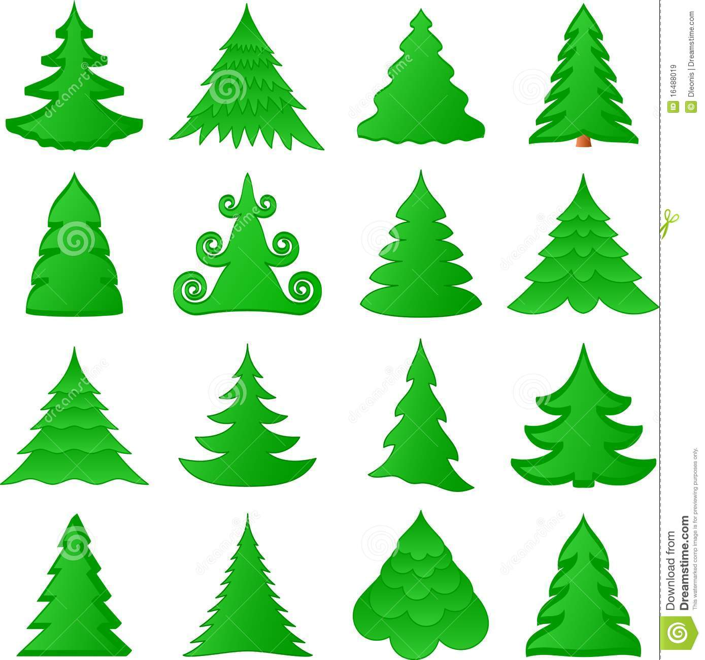 Christmas Tree Collection Trowbridge : Christmas trees collection royalty free stock images