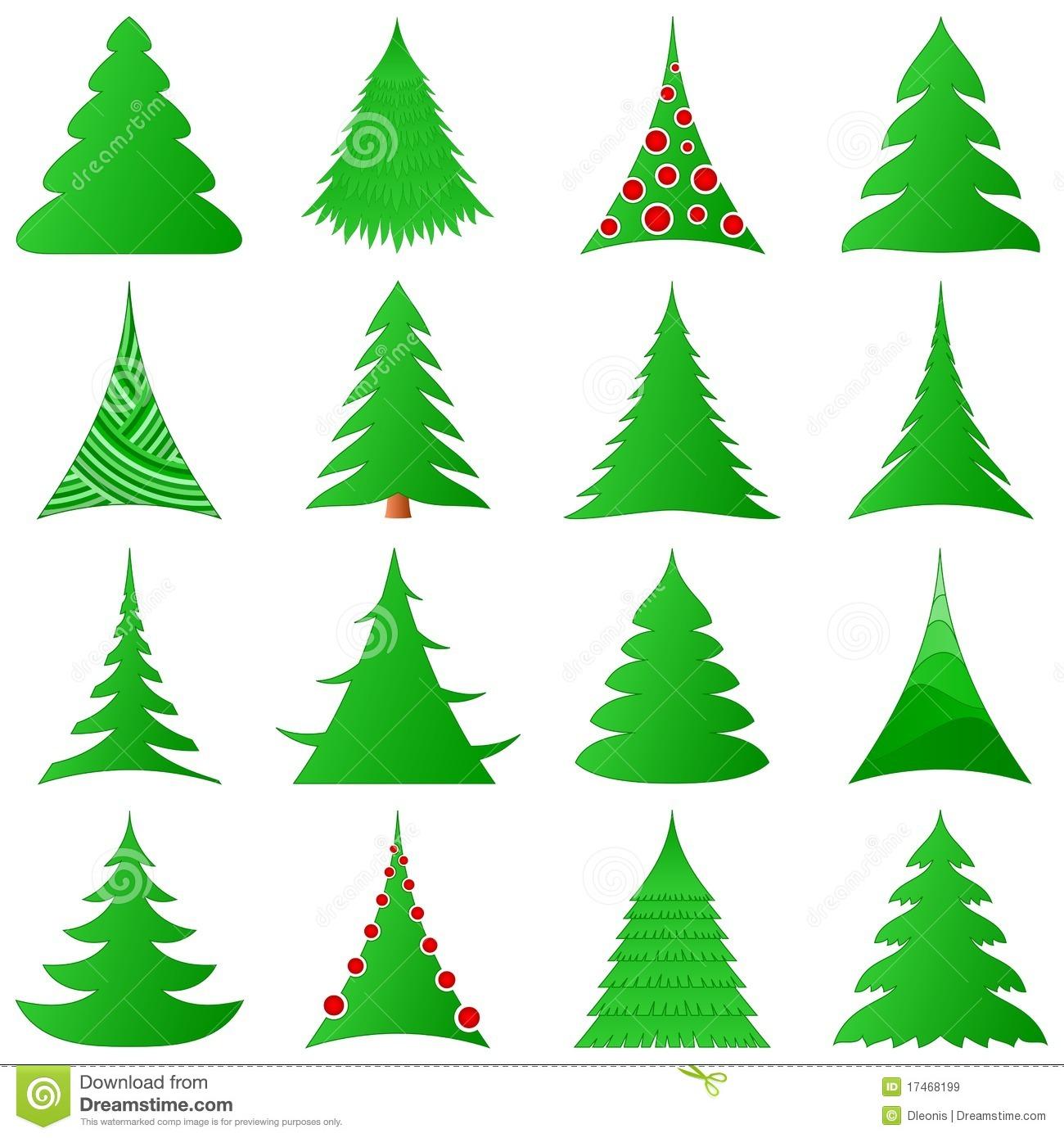 Christmas Tree Collection Manly : Christmas trees collection royalty free stock images