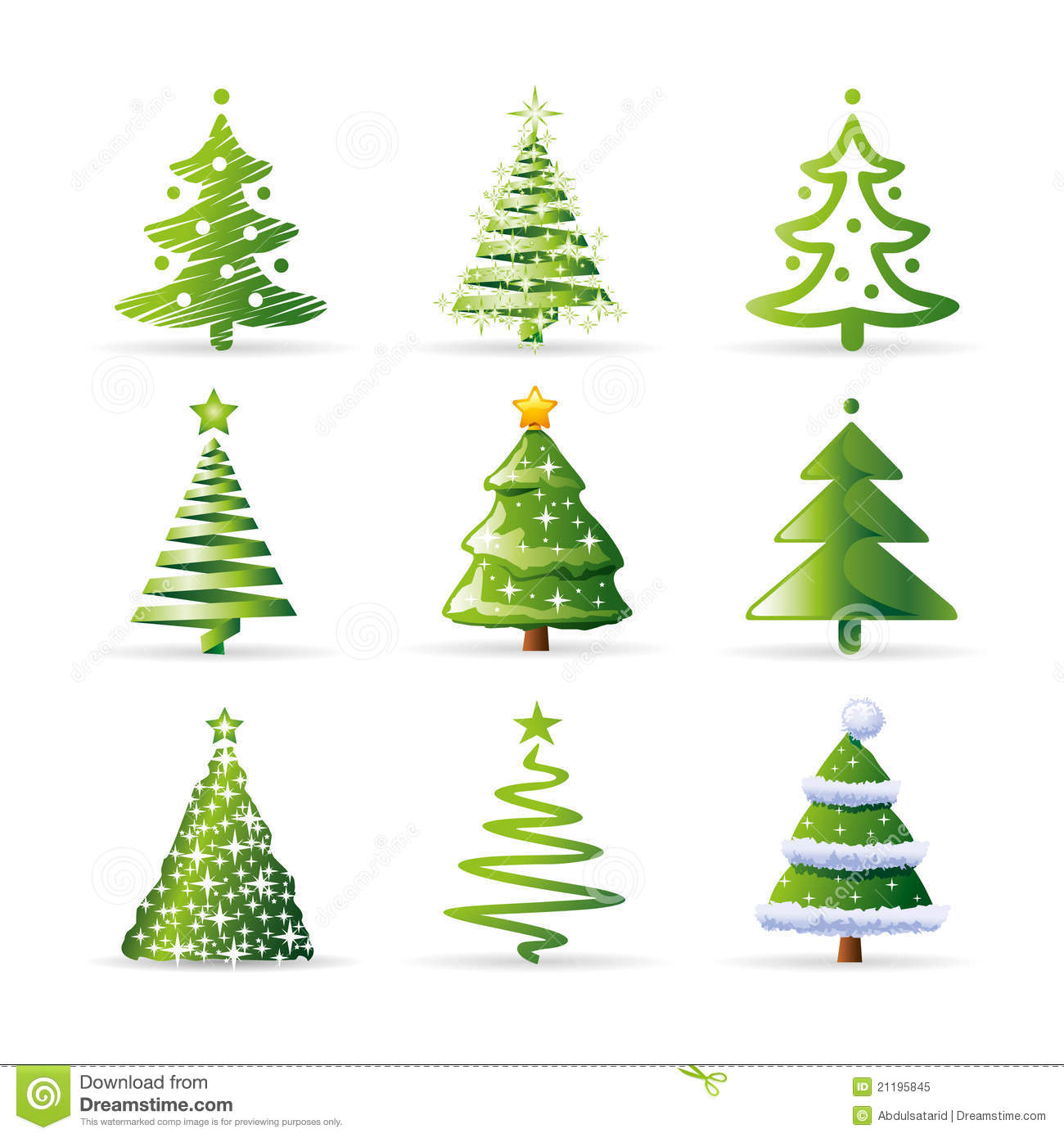 Christmas Tree Collection Trowbridge : Christmas trees collection royalty free stock photo