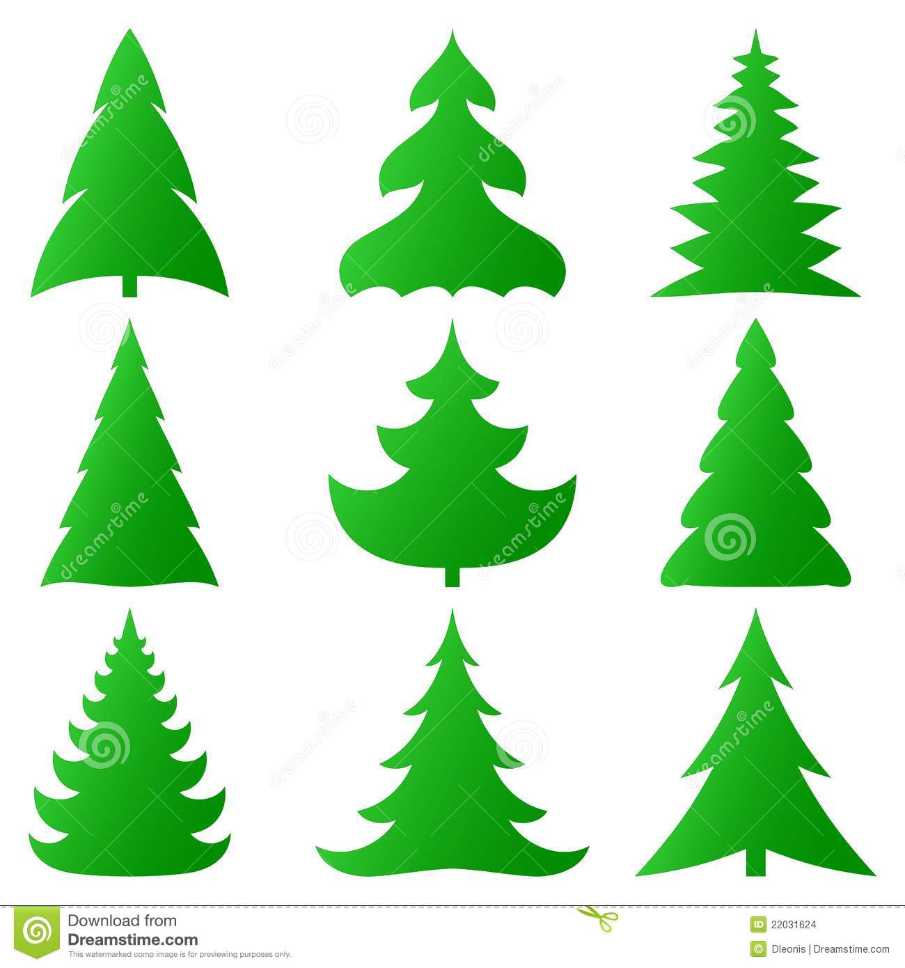 Christmas Tree Collection Leichhardt : Christmas trees collection stock images image