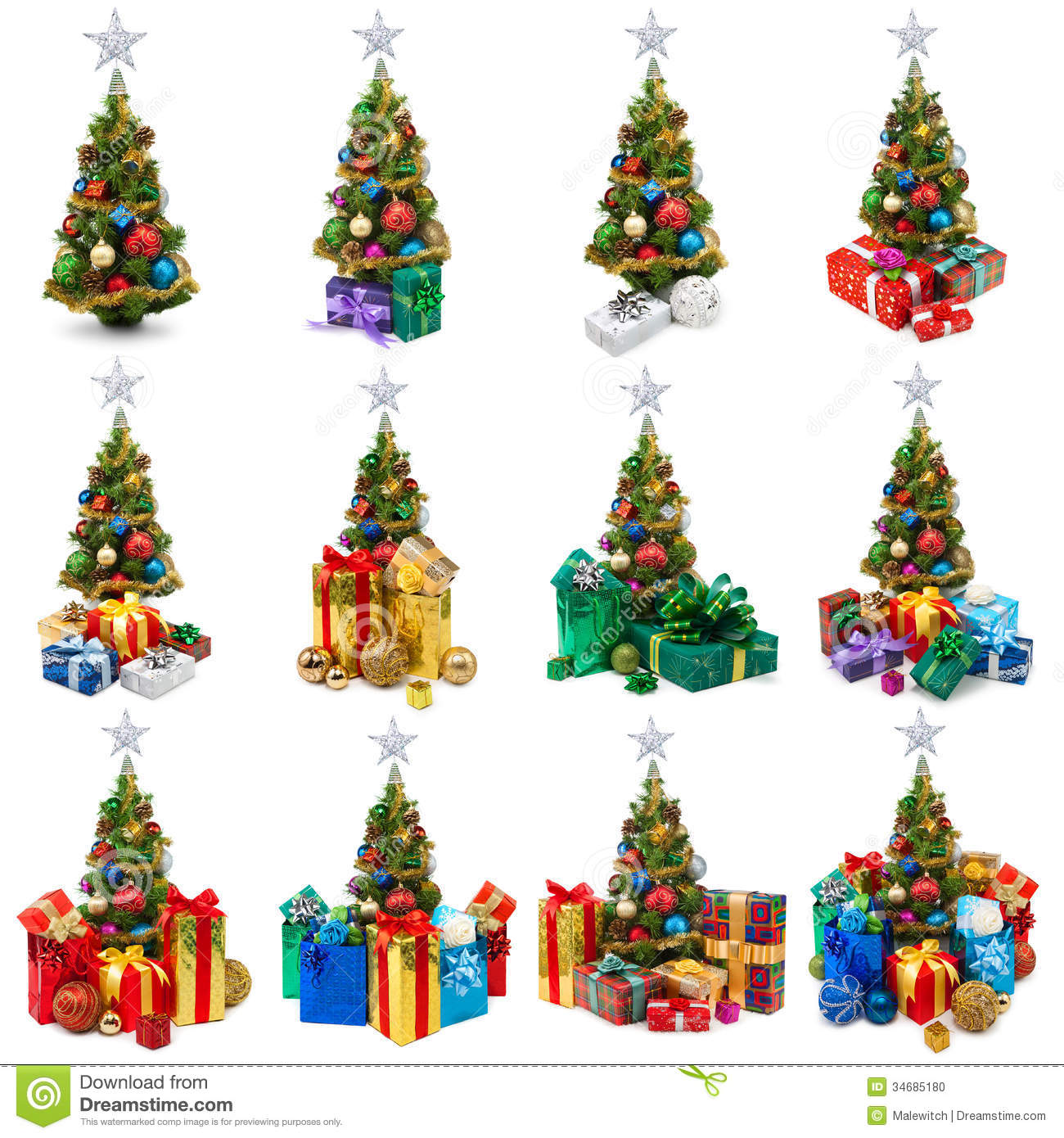 Christmas Tree Collection Manly : Christmas trees collection stock photo image