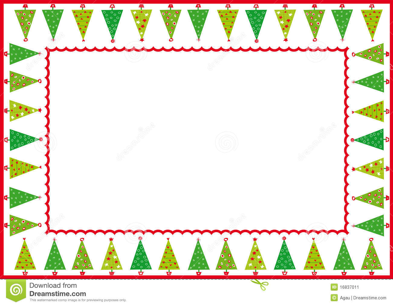 christmas trees frame stock image image 16837011