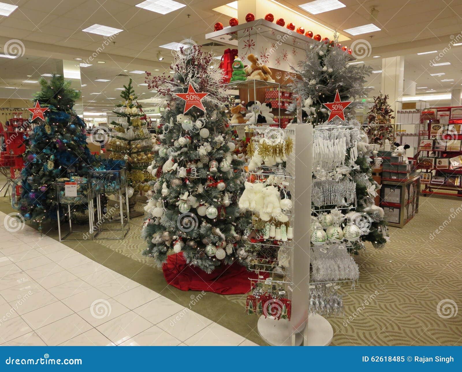 Christmas Trees Macys Store Editorial Image - Image: 62618485
