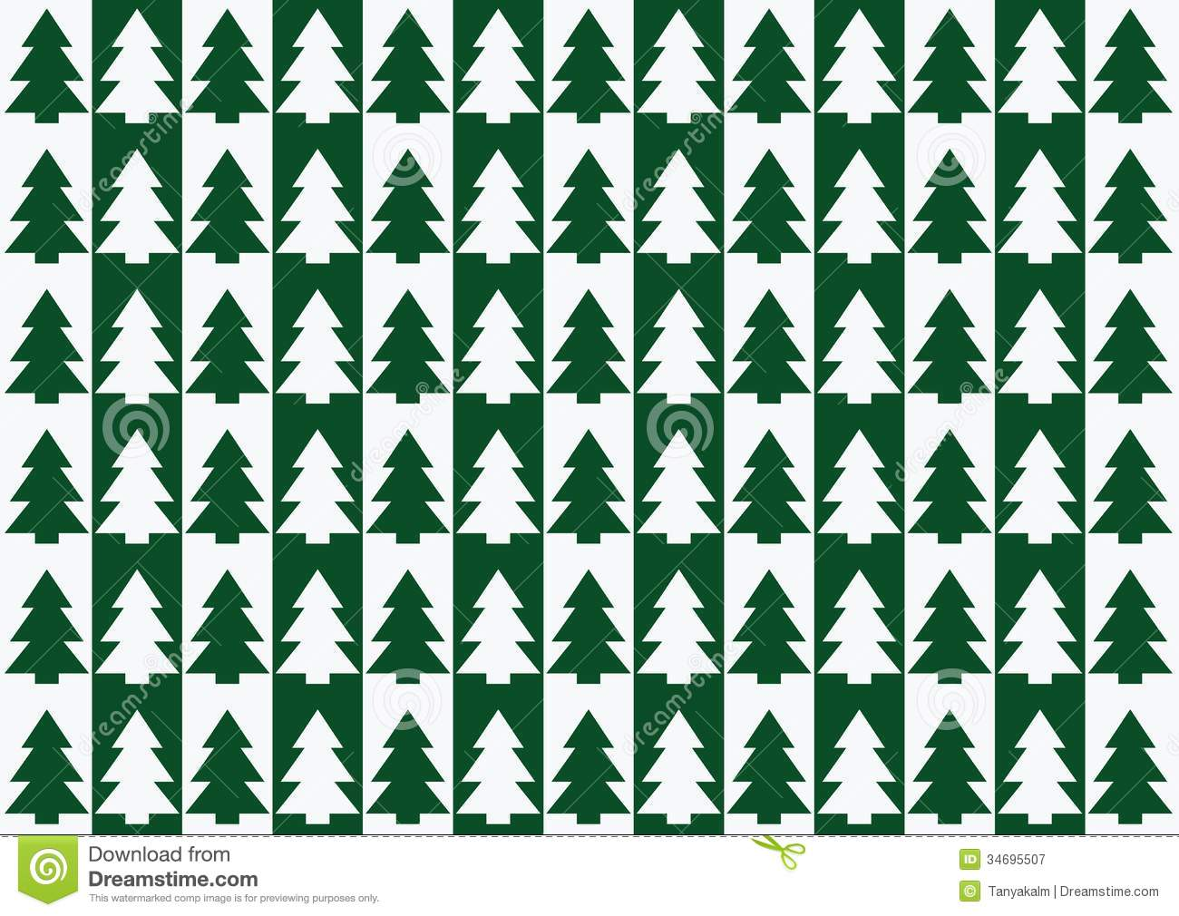 Christmas Trees Pattern, Background Royalty Free Stock Photography ...