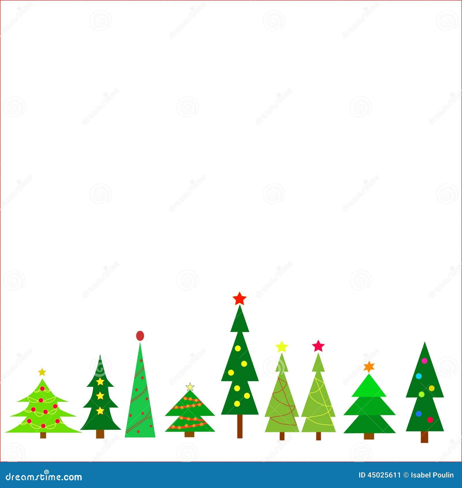 Christmas Trees Stock Vector Image 45025611