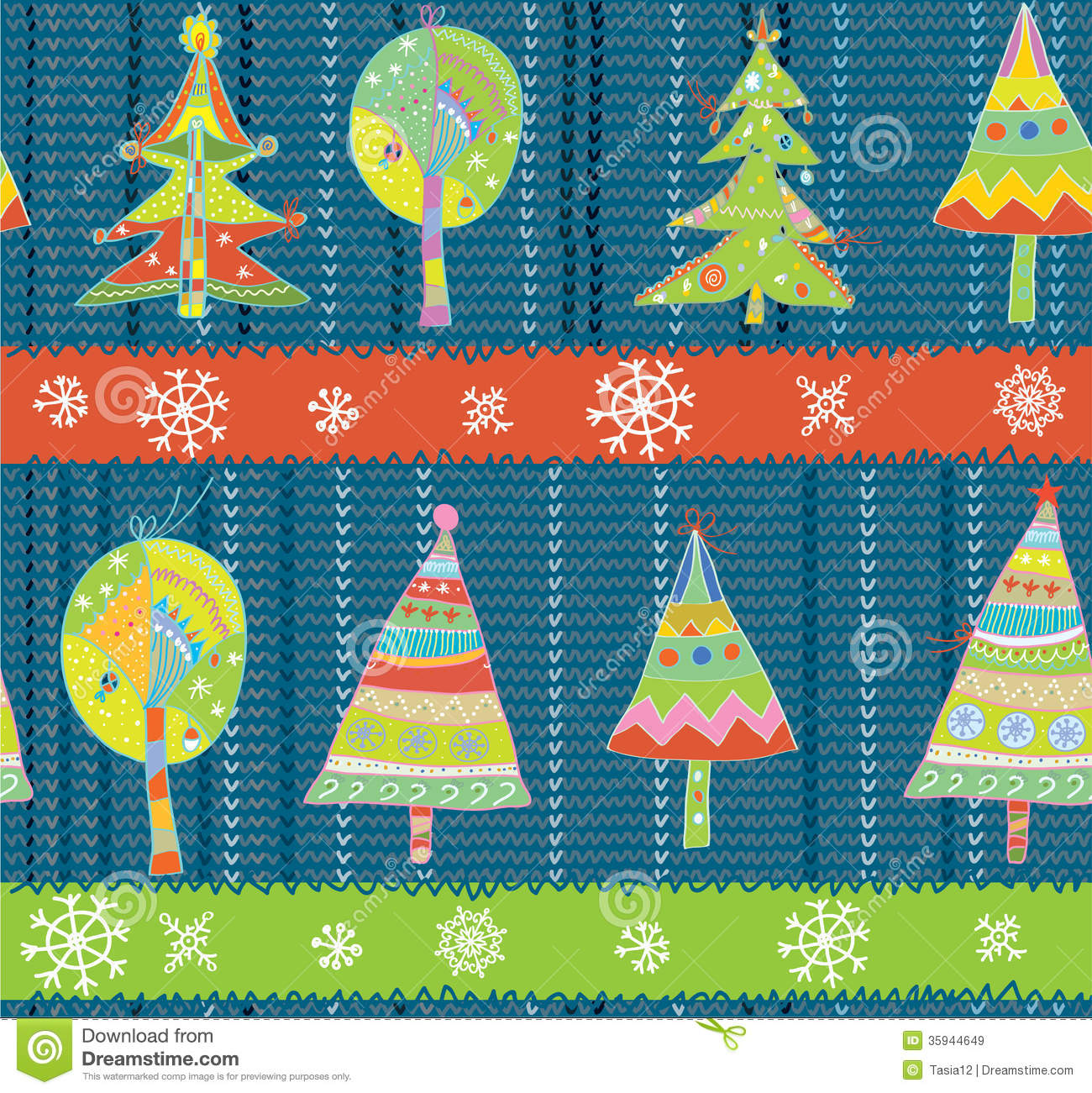 christmas trees seamless winter knitting pattern royalty