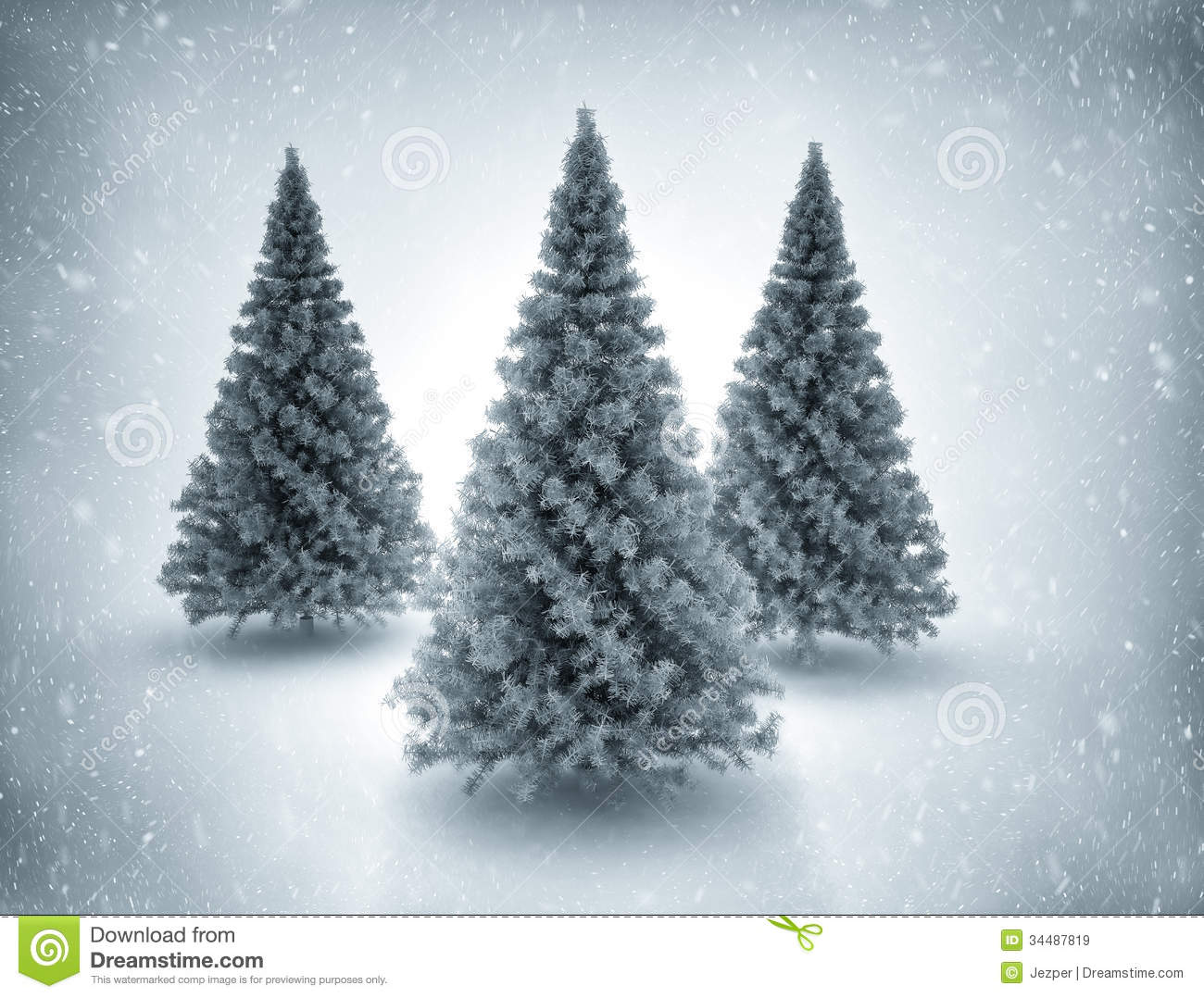 Christmas Tree Pictures High Resolution : Christmas trees and snow royalty free stock images image