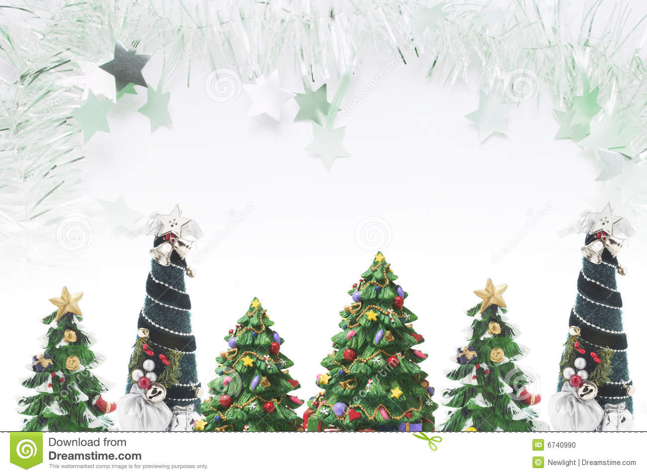 Fantasy Chess Set Christmas Trees And Tinsel Stock Photo Image 6740990