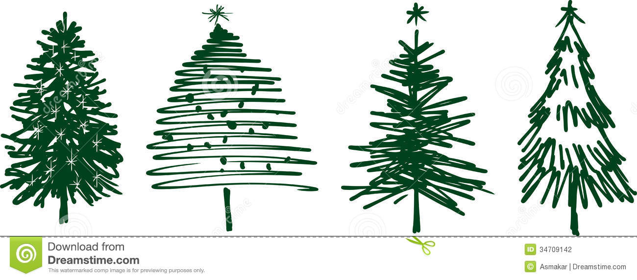 christmas trees stock vector illustration of symbol vector pine tree images pine trees vector png