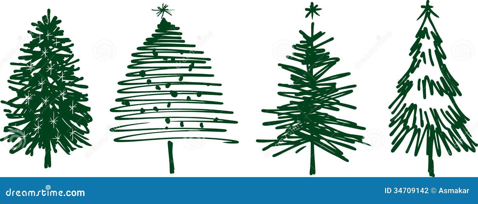 Christmas Trees Stock Photography Image 34709142