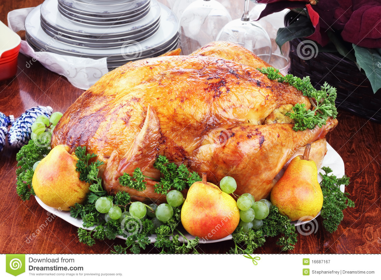 Christmas Turkey Dinner Royalty Free Stock Photography - Image ...