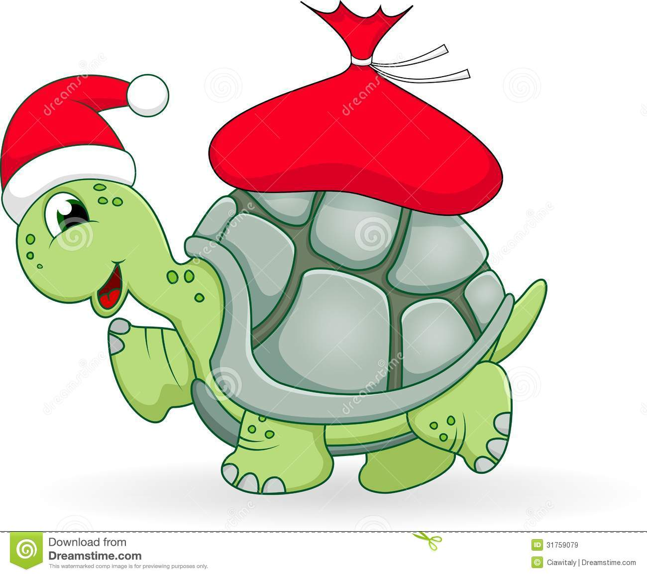 Christmas Turtle Cartoon Royalty Free Stock Images - Image: 31759079