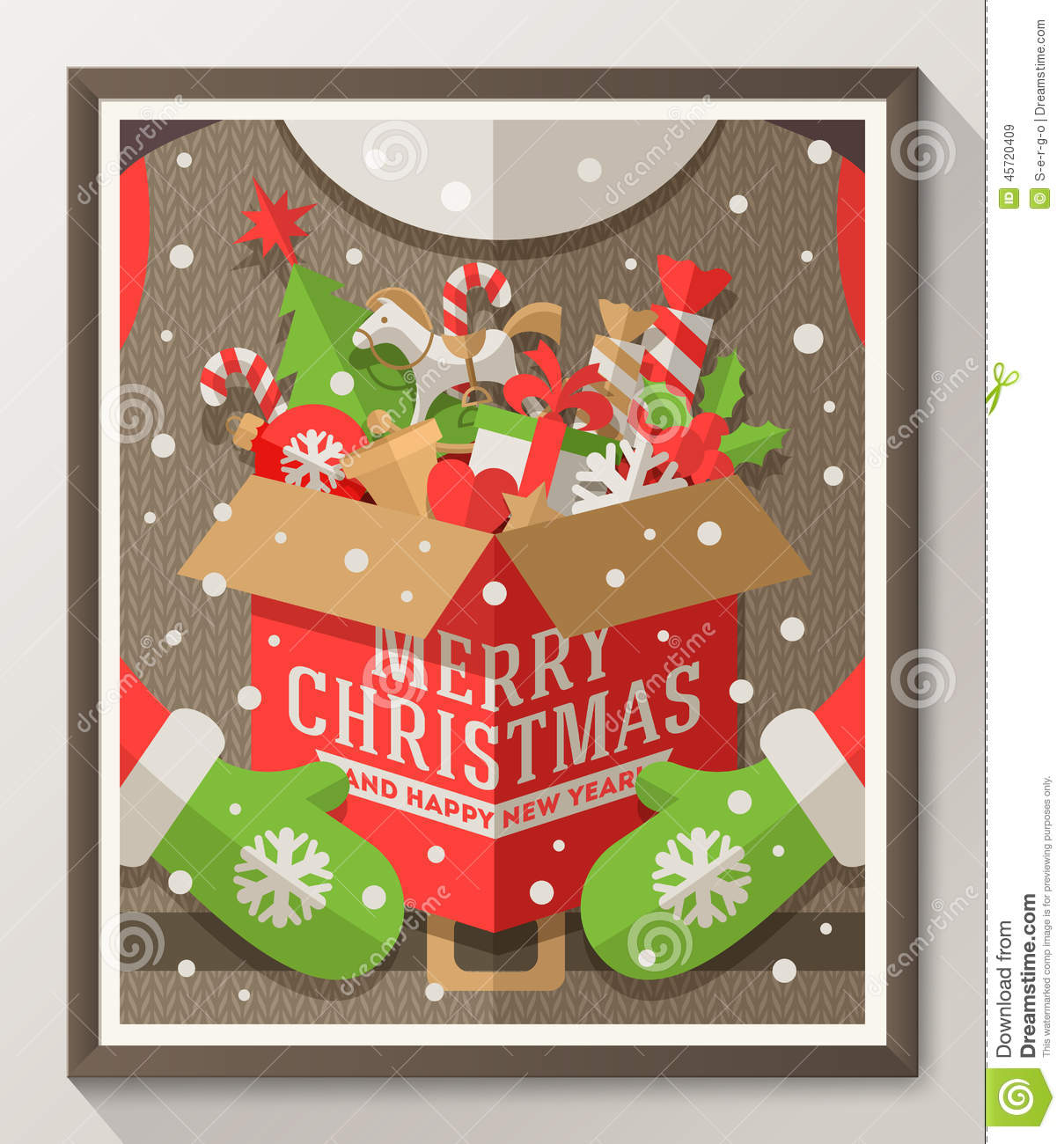 Xmas poster design - Christmas Type Design Poster Stock Vector