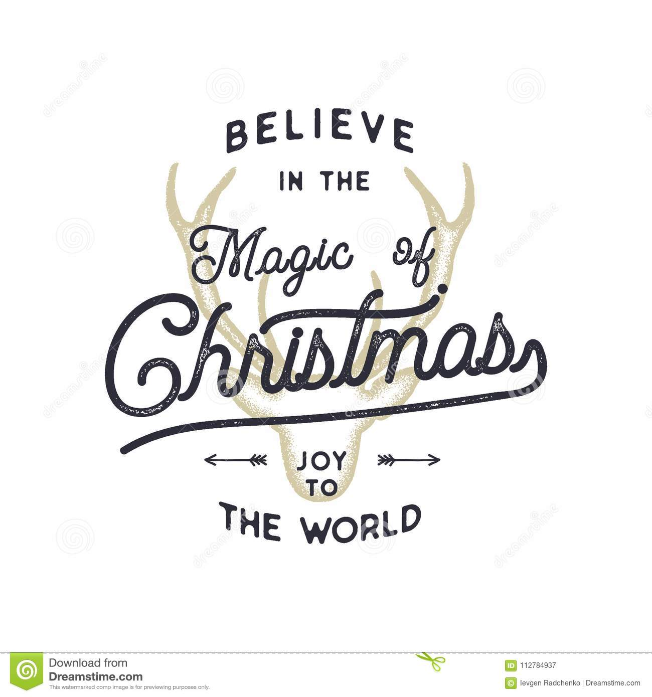 Happy Holidays Inspiration: Christmas Typography Quote Design. Believe In Christmas
