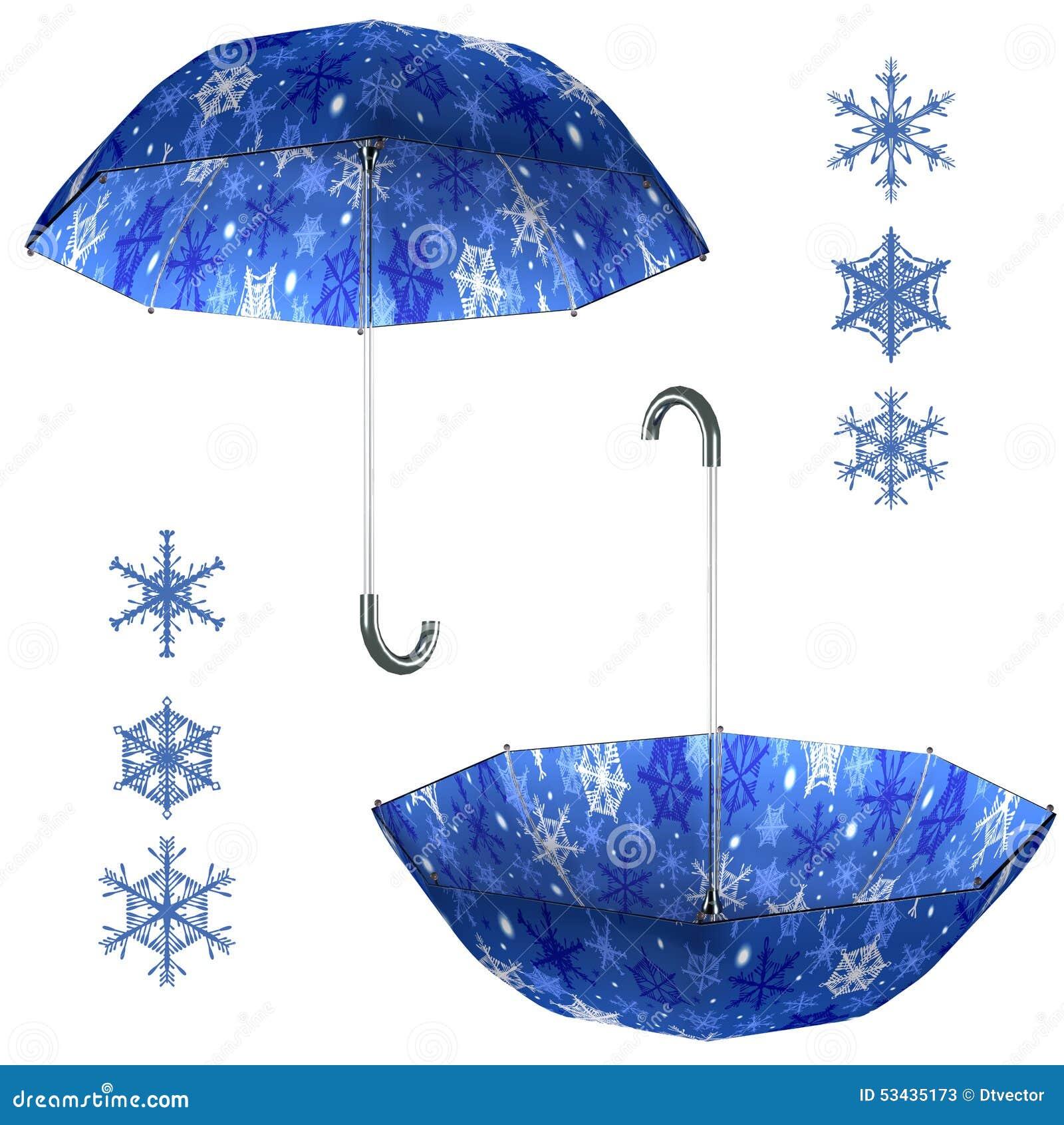 Christmas Umbrella Set Stock Photo