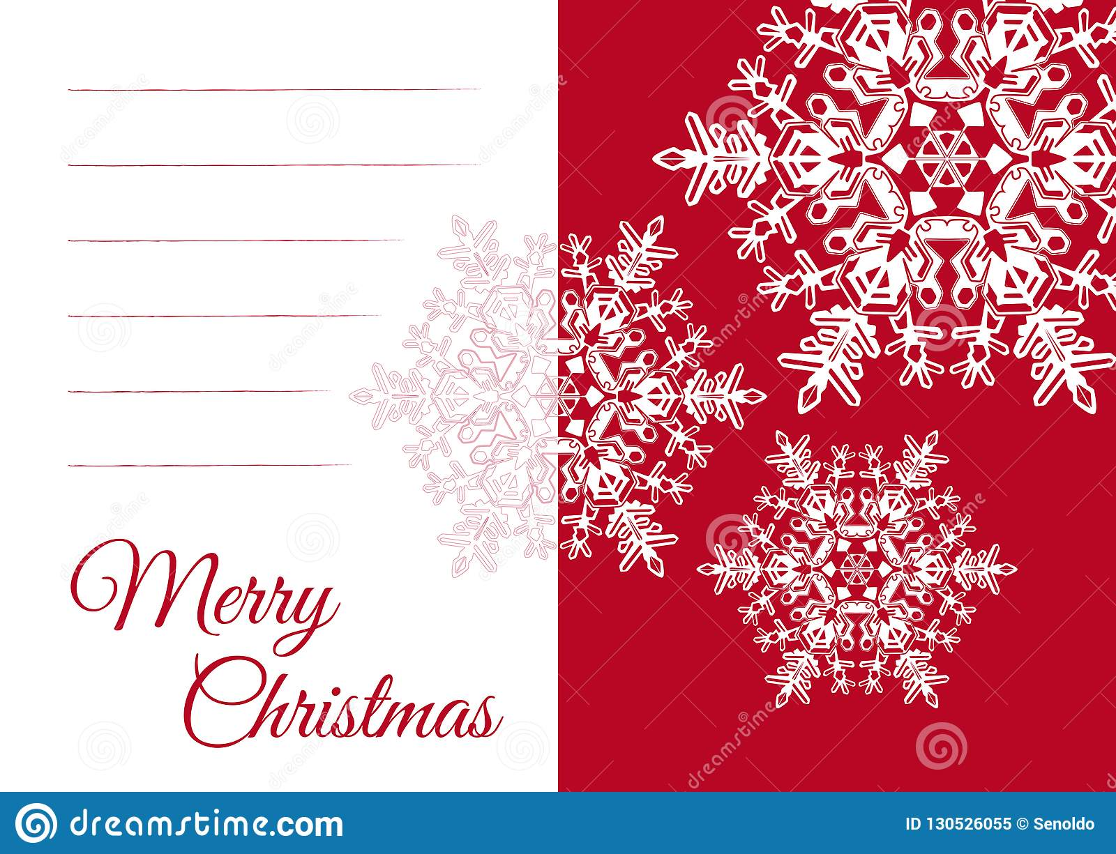 christmas greeting card template with blank text field