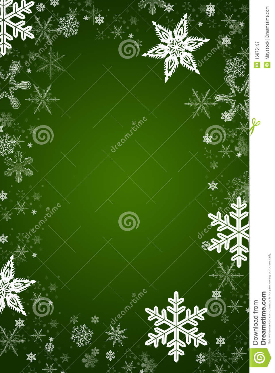 Christmas Vector Snowflakes In A Green Background Royalty ...