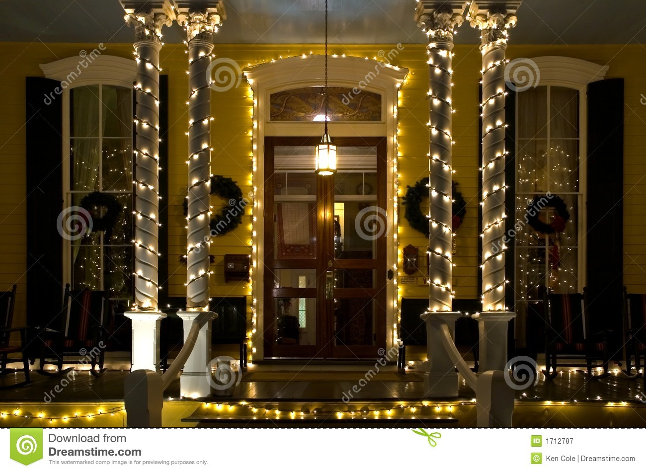 Christmas Victorian Porch Royalty Free Stock Photography