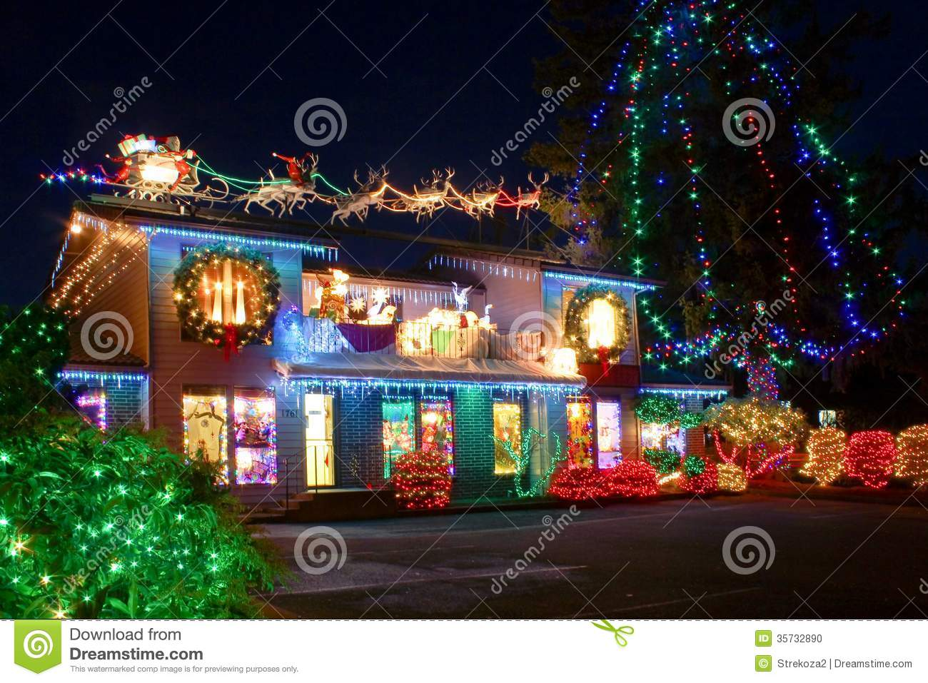 royalty free stock photo download christmas village lights - Lights For Christmas Village