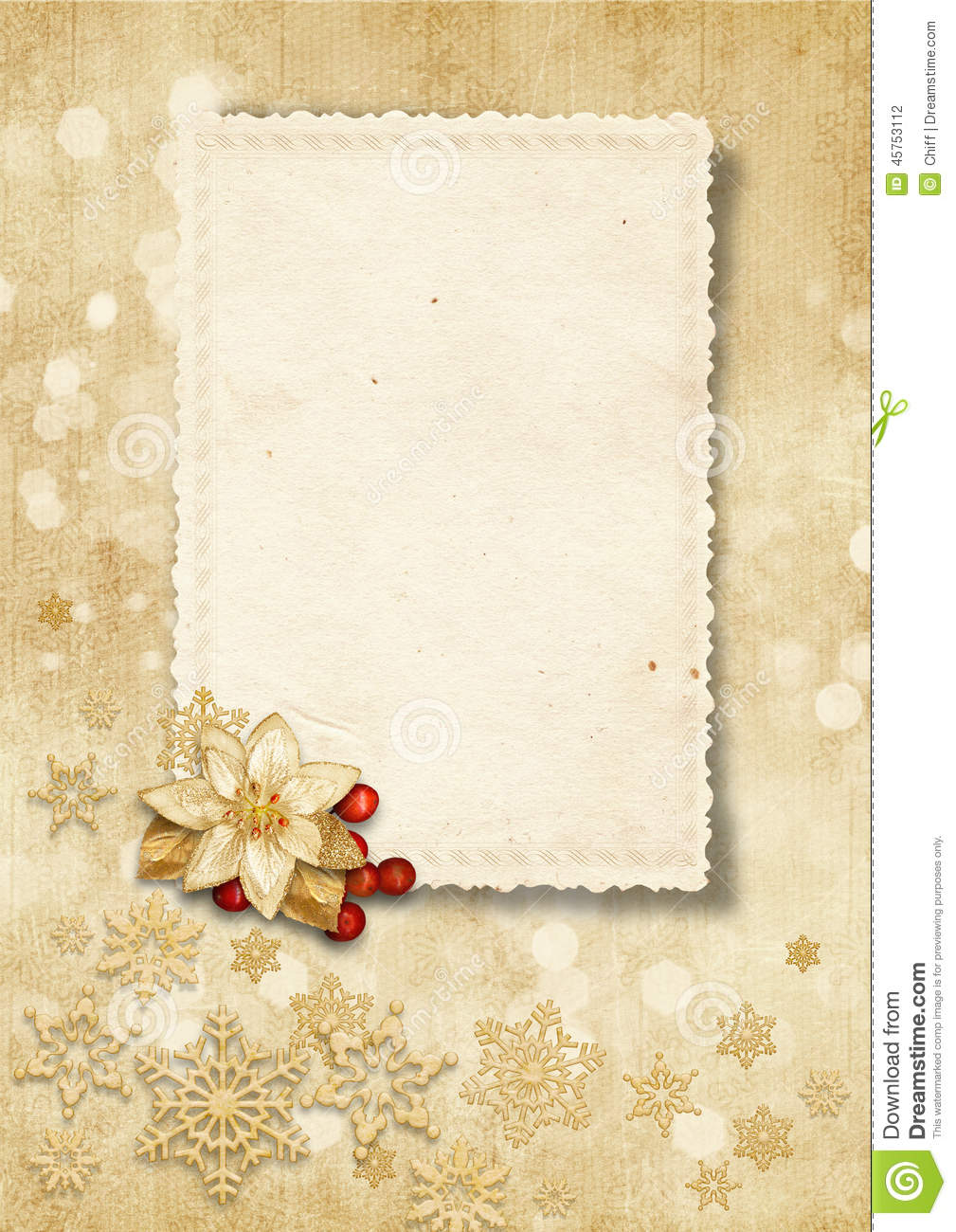 Christmas Vintage Background With Old Card Stock ...