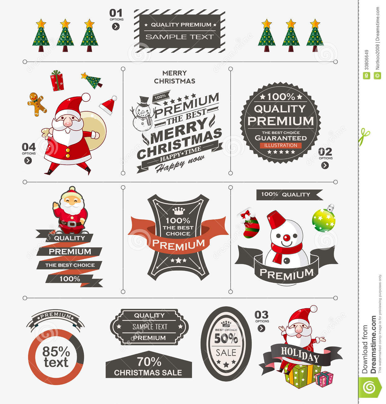 christmas vintage banner stock vector. image of classic - 33806649, Powerpoint templates