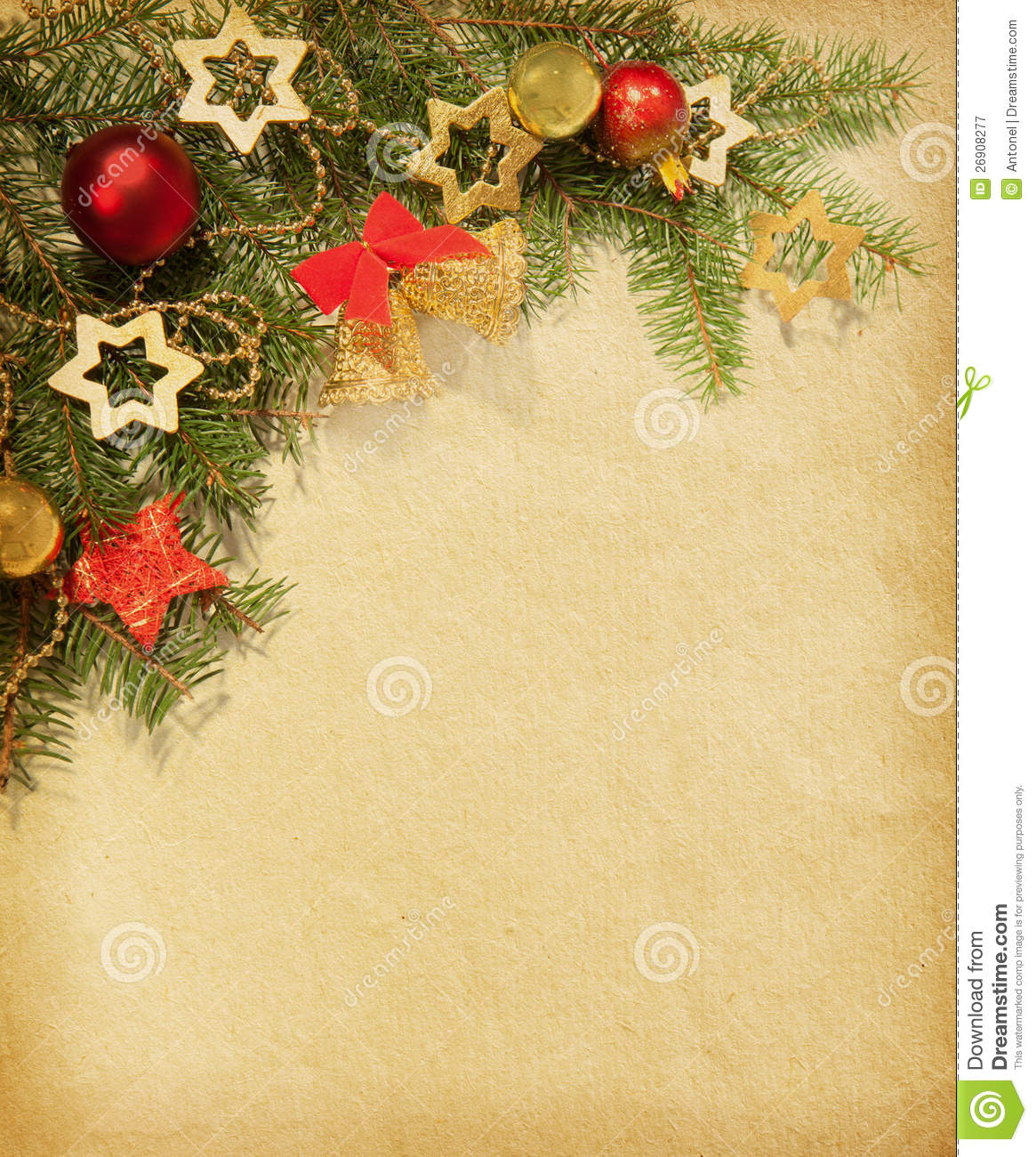 Christmas Vintage Border. Royalty Free Stock Photography - Image ...