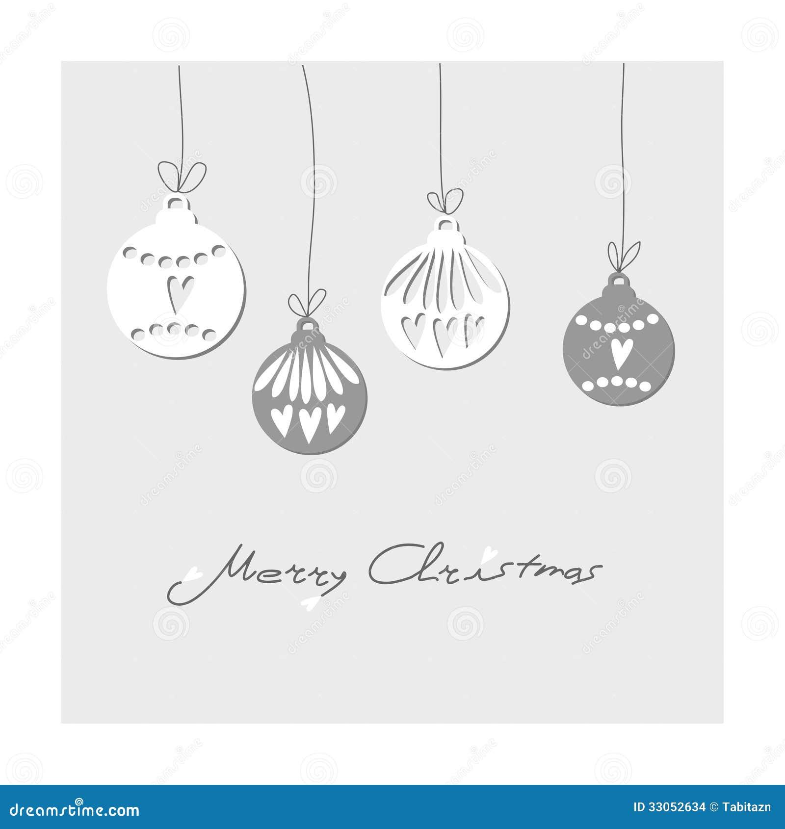 Christmas Vintage Card With Christmas Balls. Illu Stock Images ...