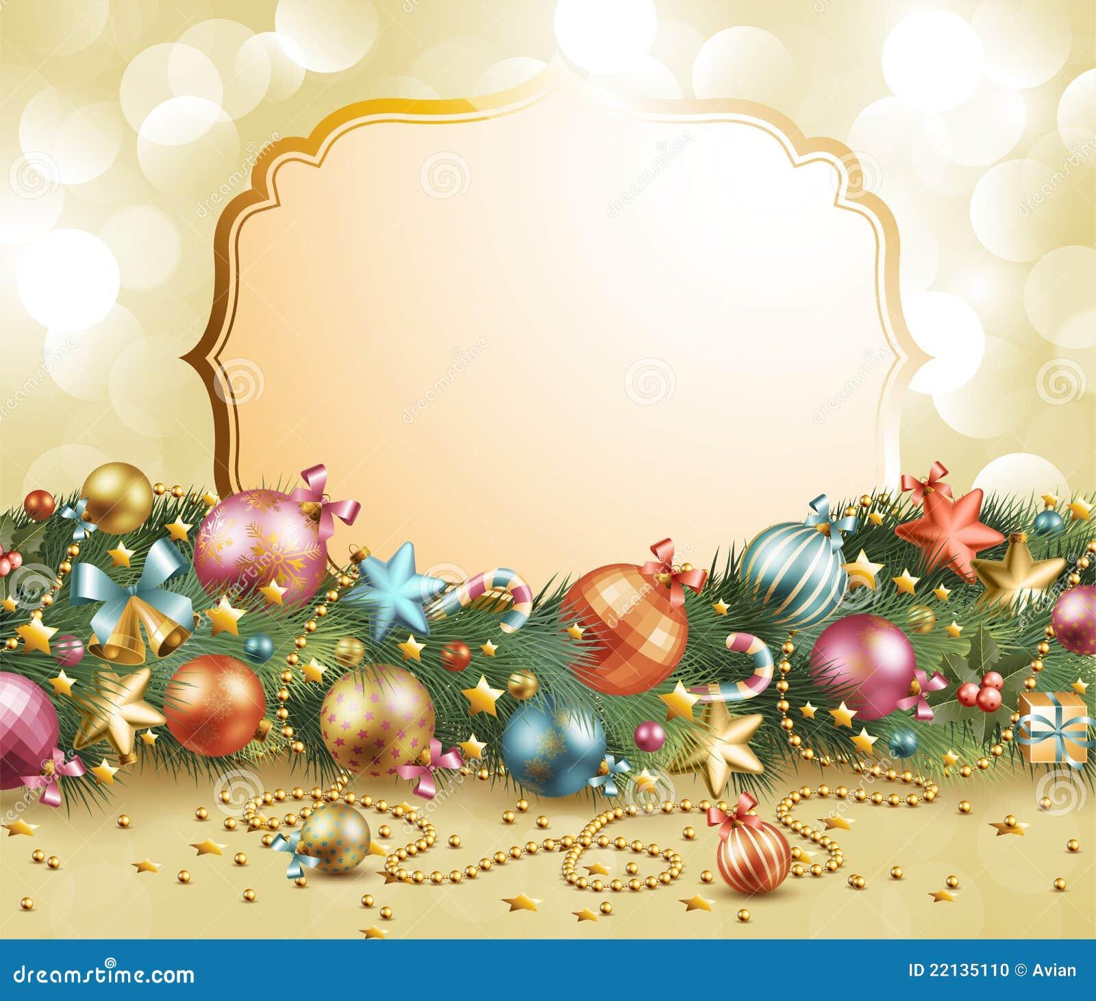 Christmas vintage garland stock photo image