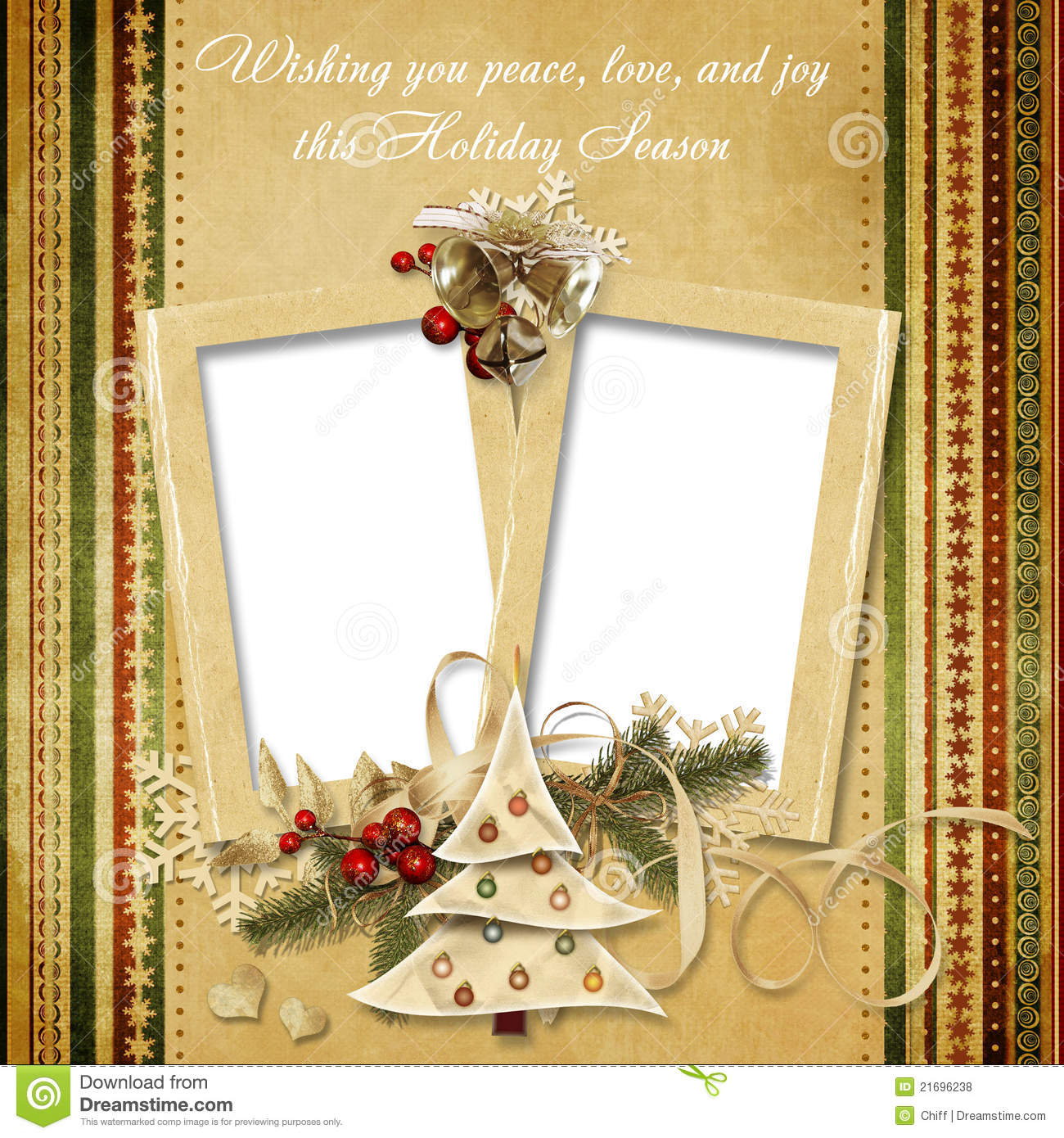 christmas vintage greeting frame with the wishes royalty