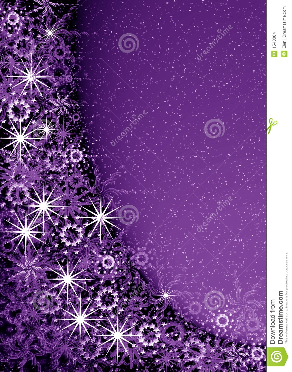 Christmas Violet Magic Frame Stock Illustration - Illustration of ...