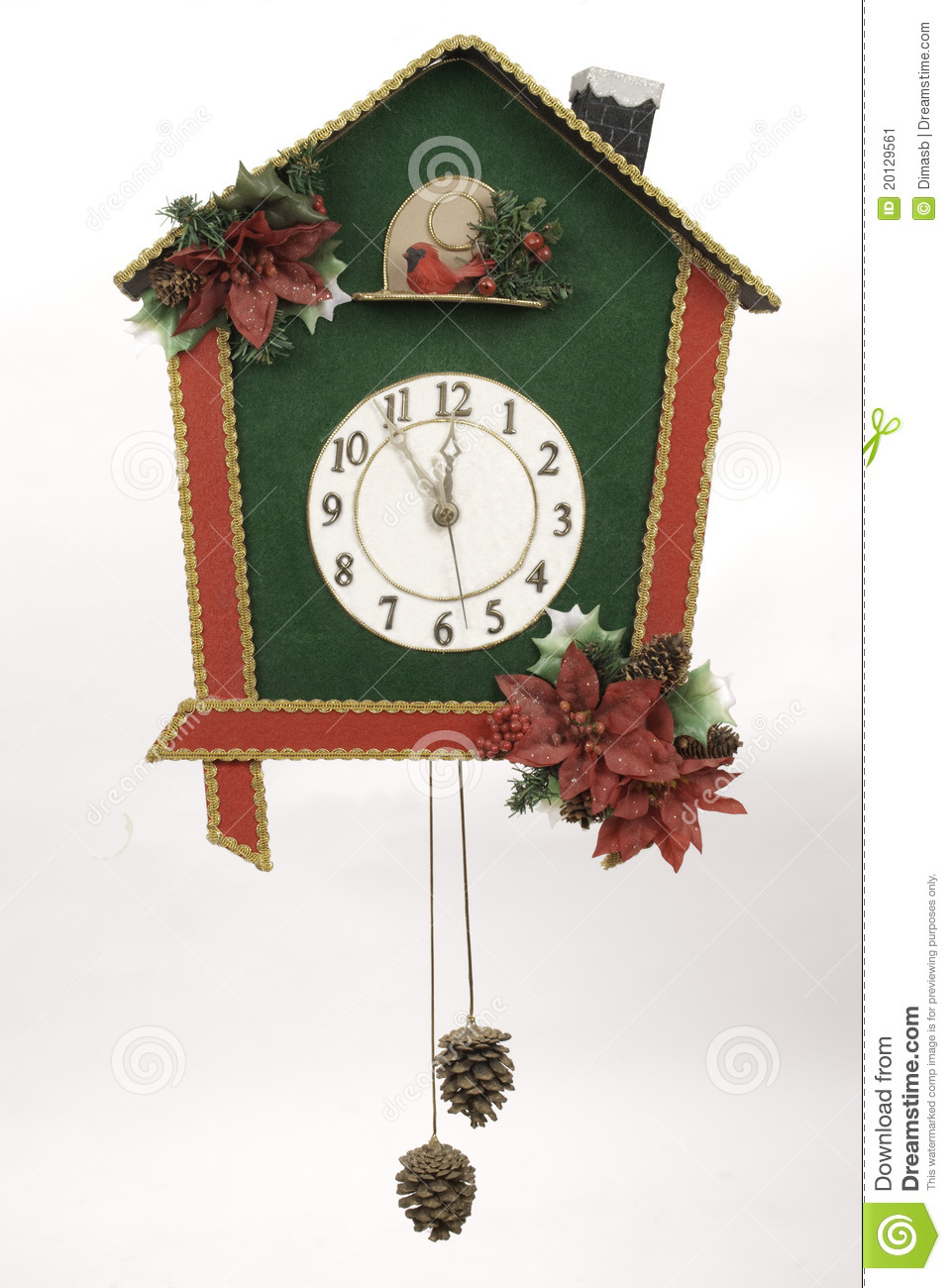 Stock image christmas wall clock