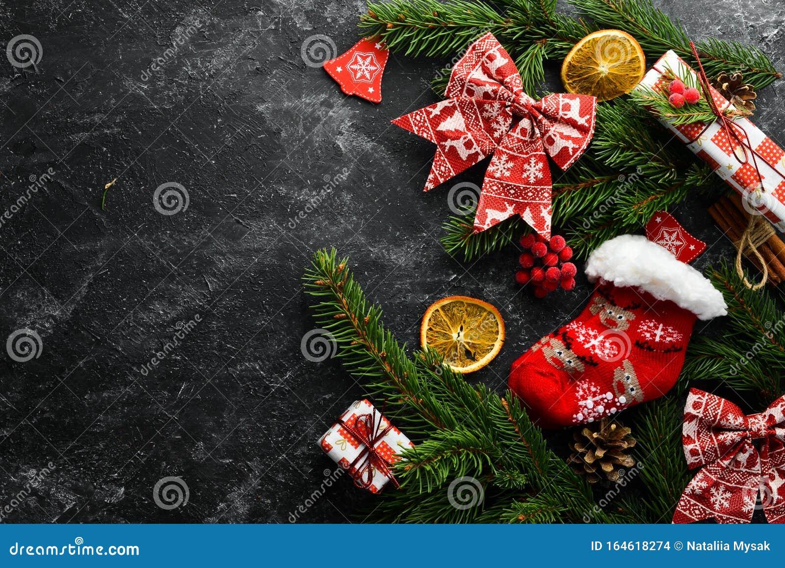 Christmas warm socks and scenery.