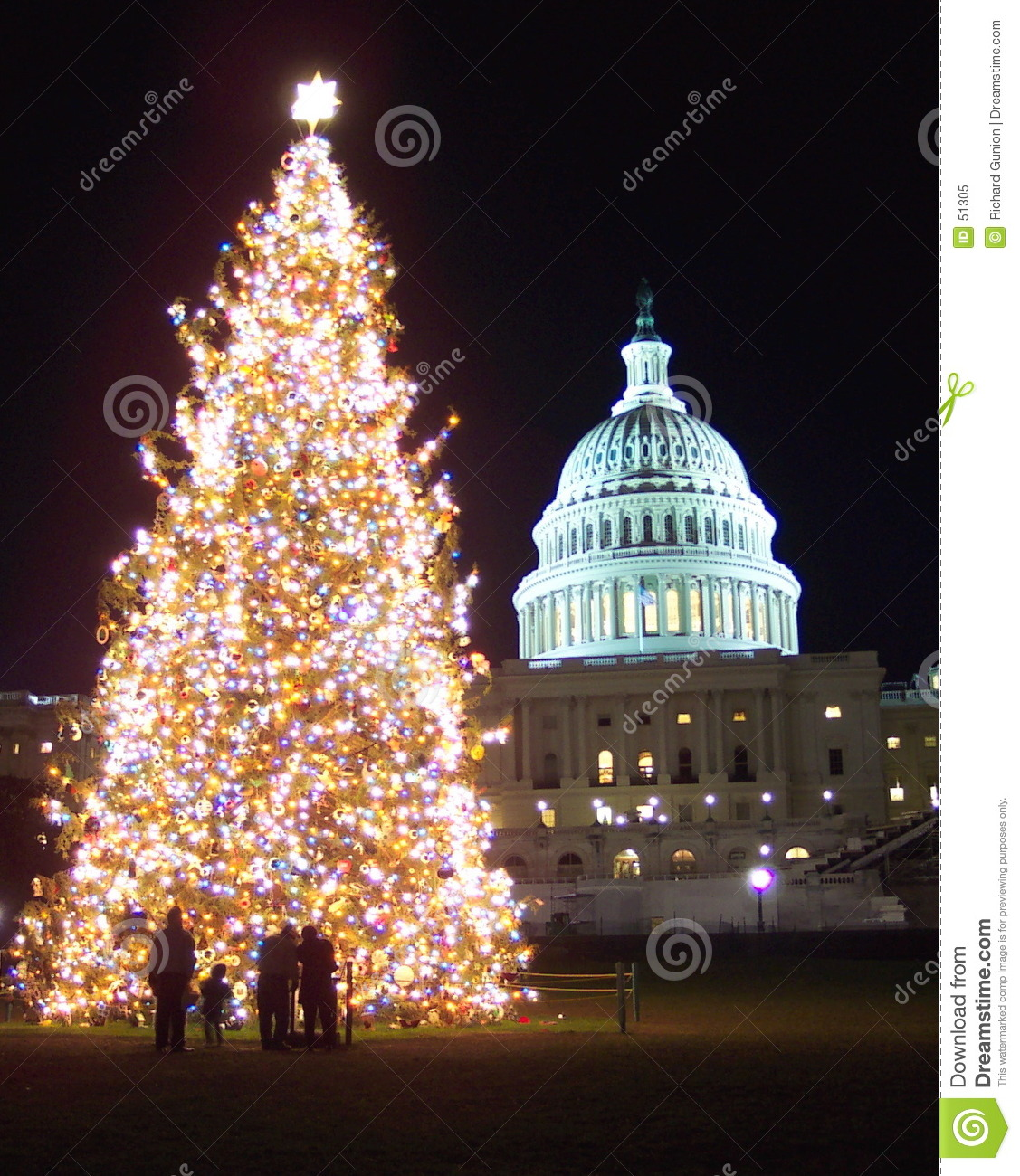 Christmas In Washington D.C. Royalty Free Stock Photo ...