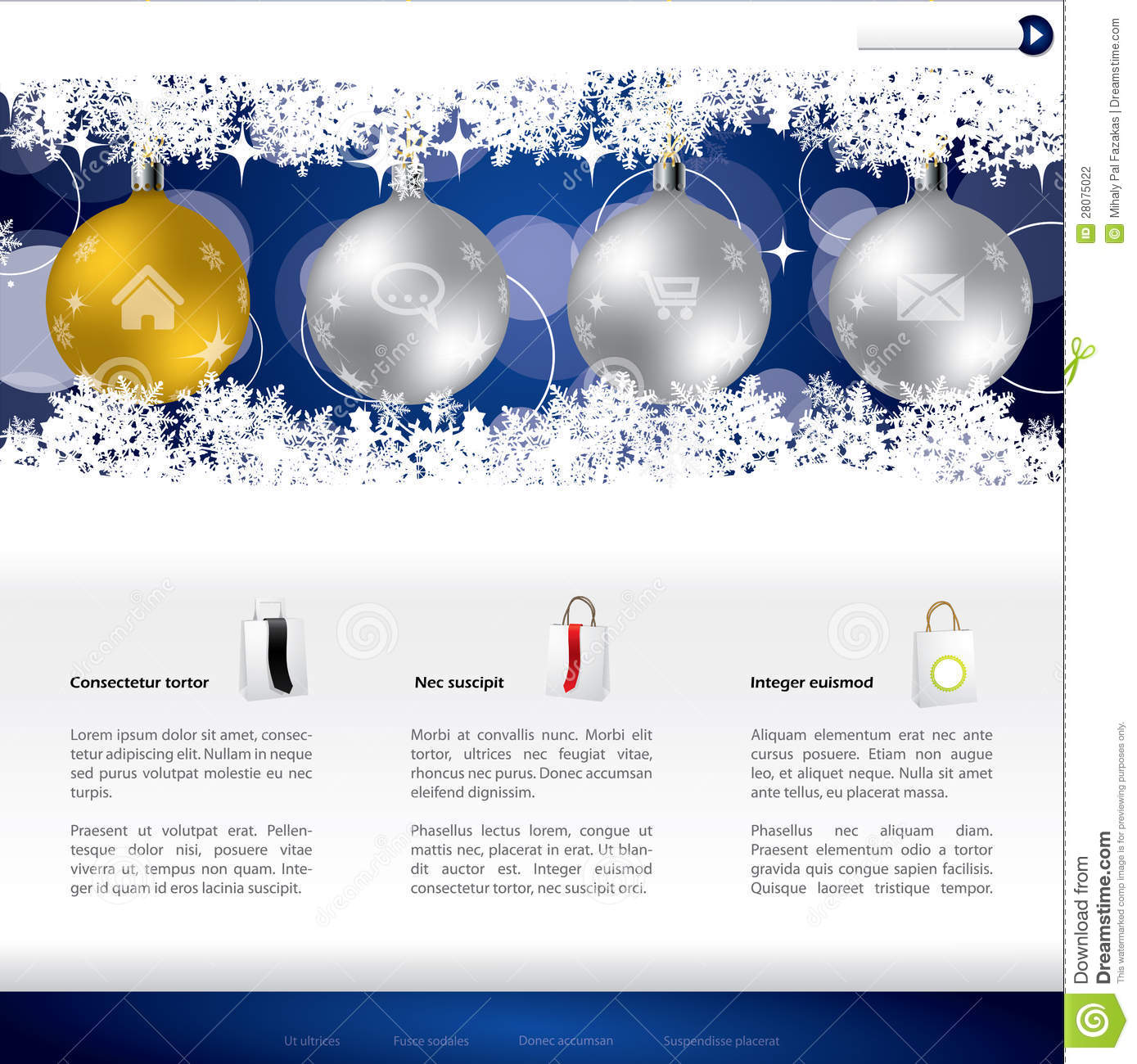 Christmas Website Template Design Stock Photography - Image: 28075022