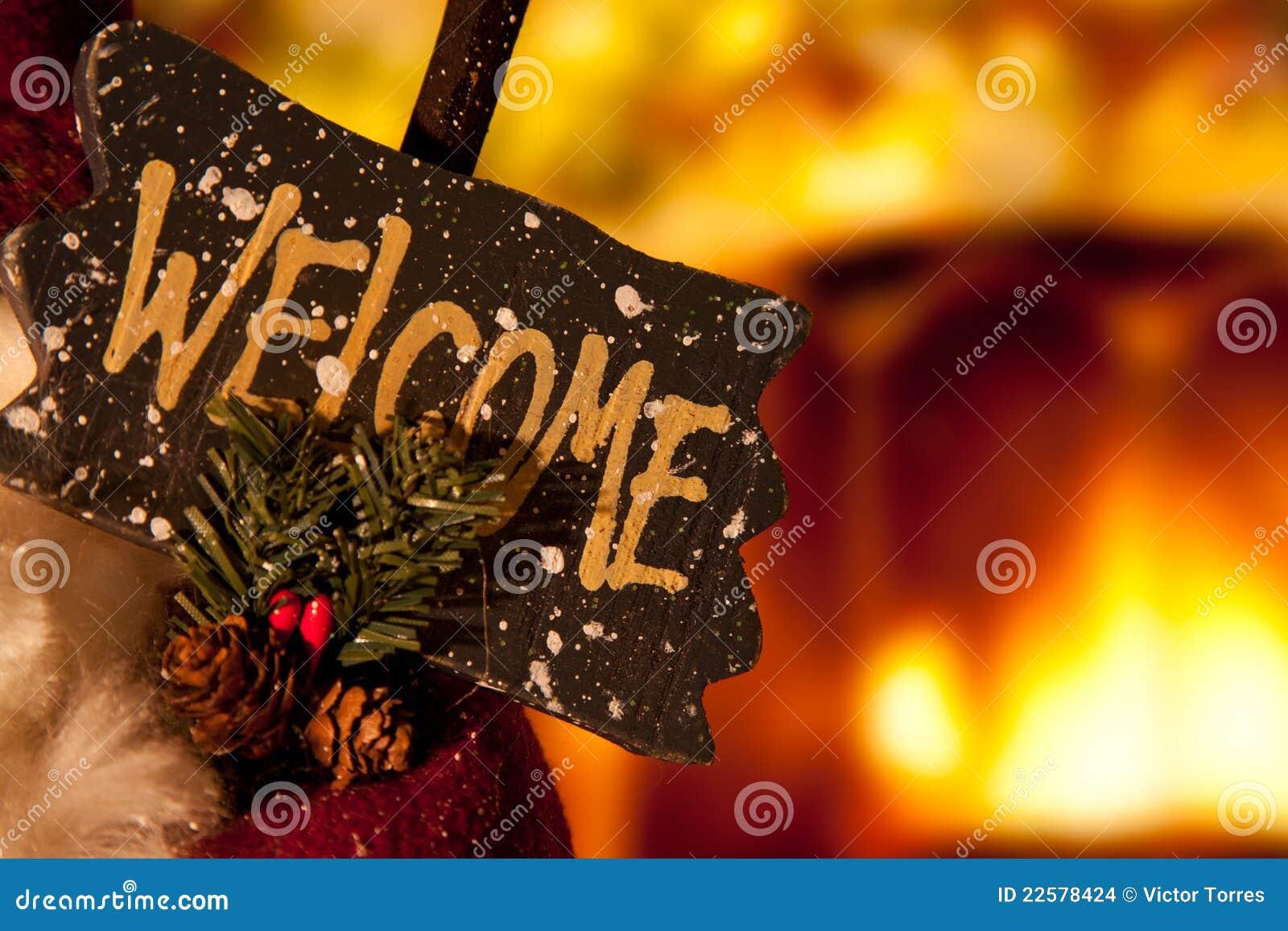 Welcome Christmas.Christmas Welcome Sign Stock Photo Image Of Christmas