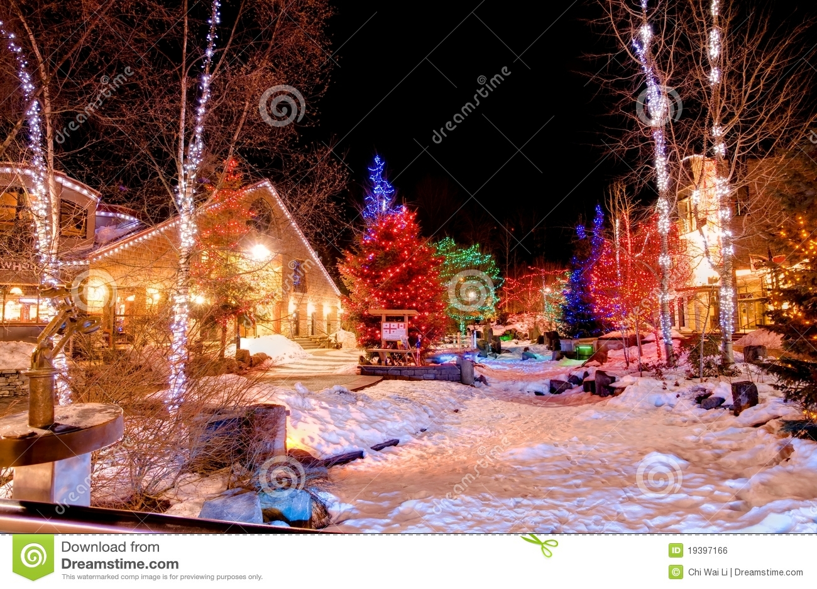 Christmas At Whistler Royalty Free Stock Image Image