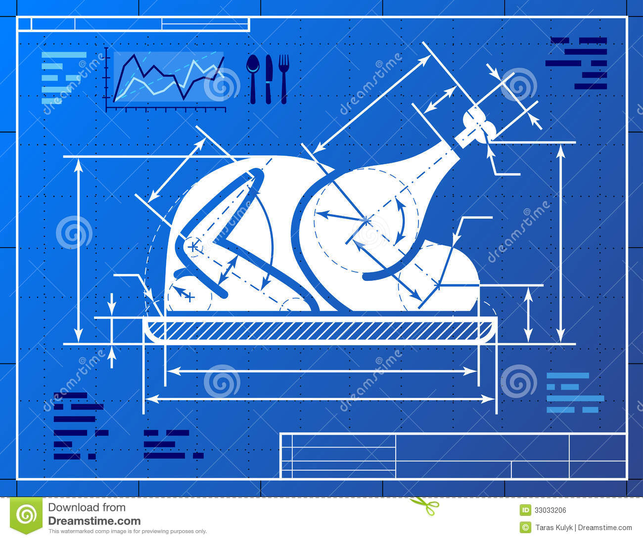 Restaurant Clip Art Blueprint
