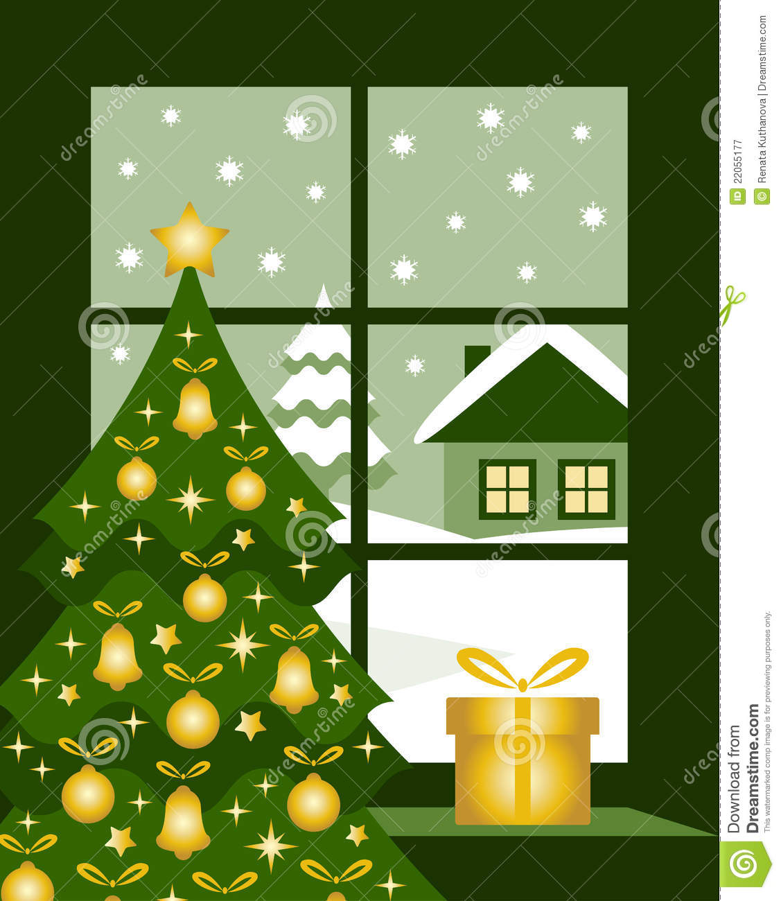 Christmas window royalty free stock photography image for 16 lighted snowflake christmas window silhouette decoration